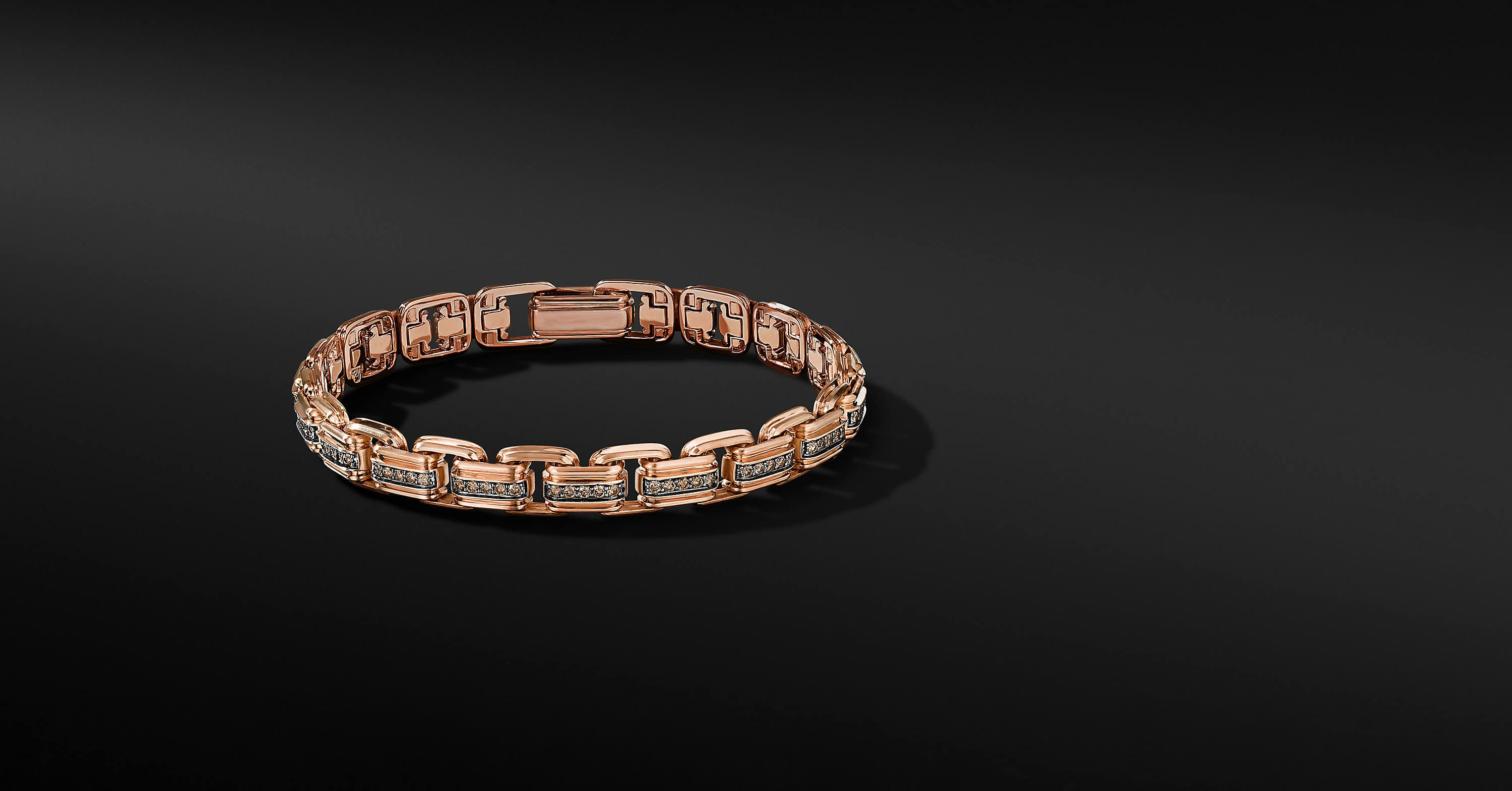 Deco Chain Link Bracelet in 18K Rose Gold