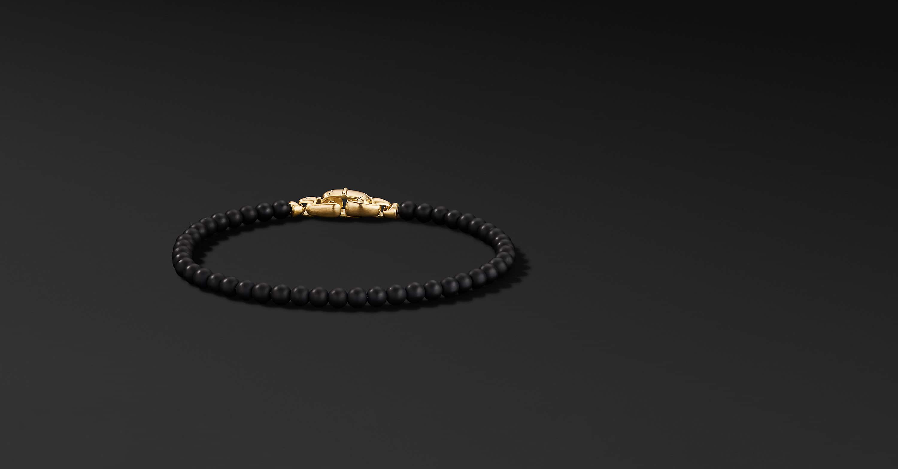 Spiritual Beads Bracelet with 18K Yellow Gold, 4mm