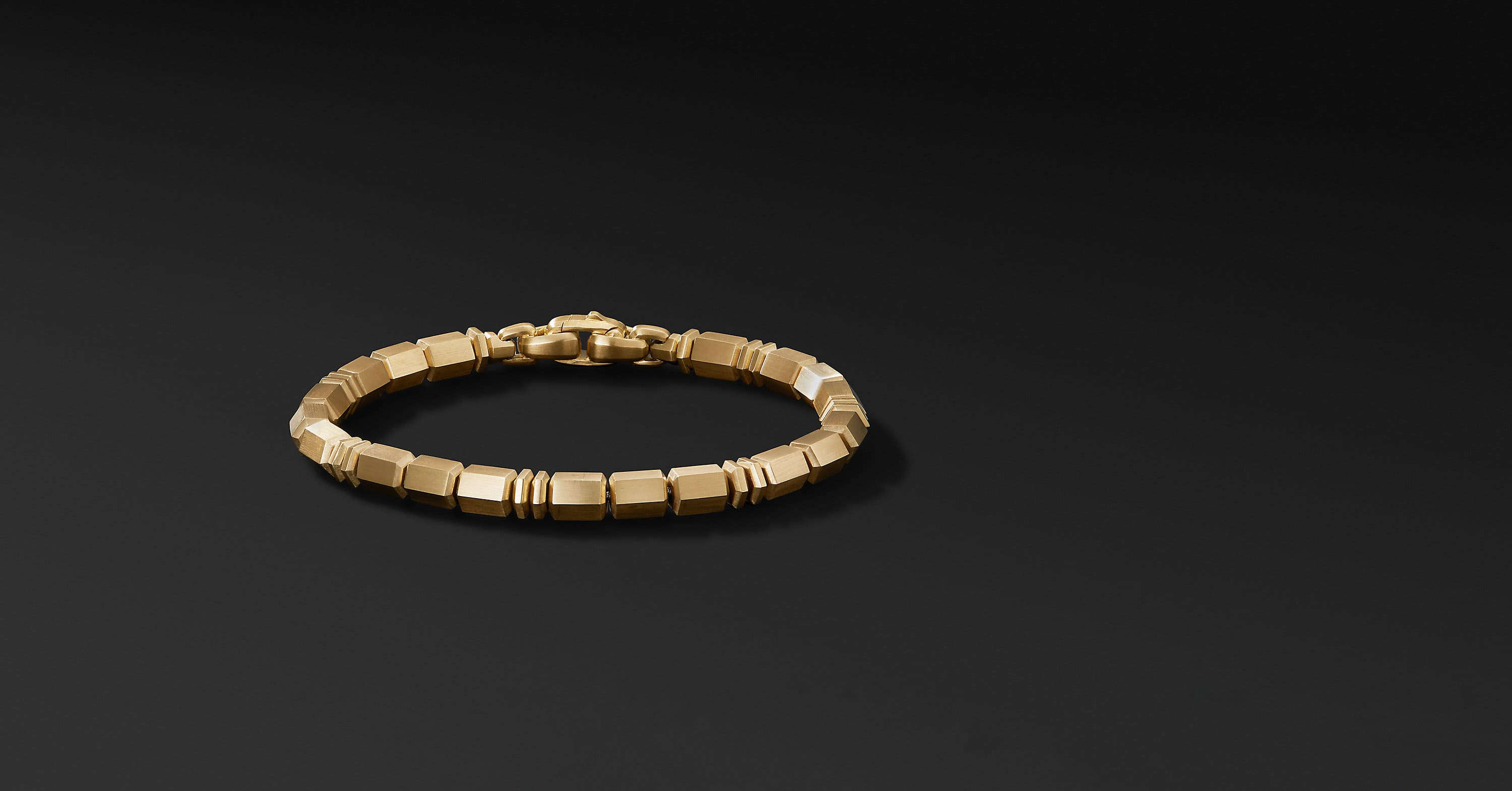 Bead Bracelet in 18K Yellow Gold, 6mm