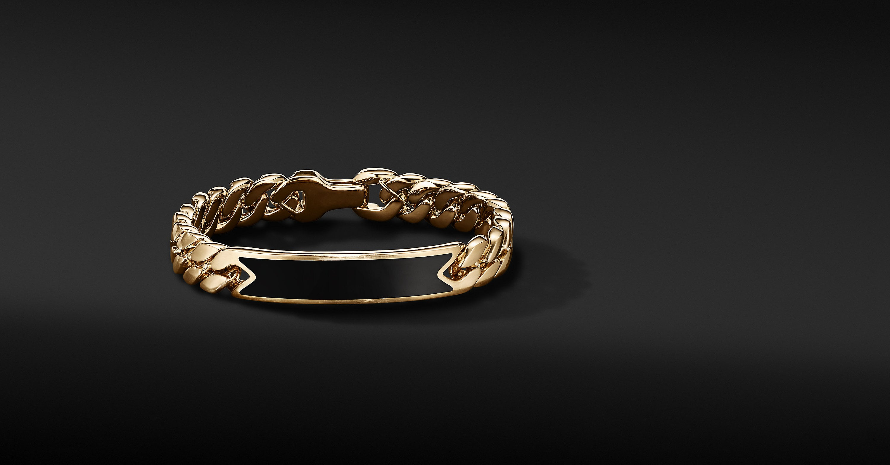 Curb Chain ID Bracelet in 18K Yellow Gold, 11.5mm
