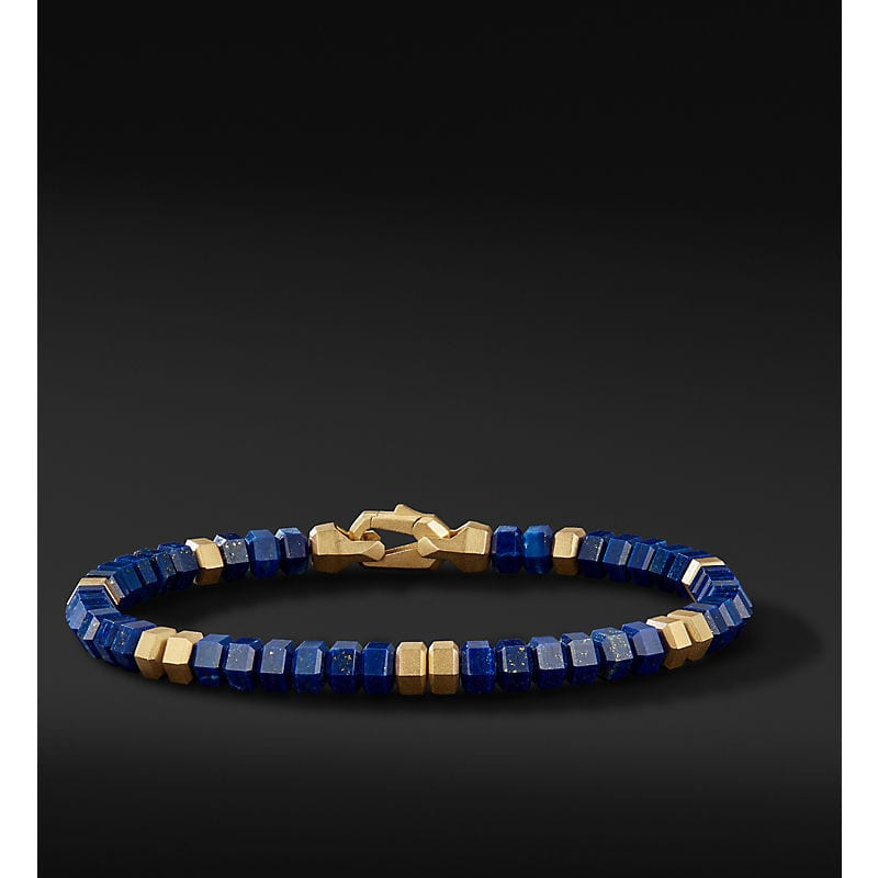 DY Hex Spiritual Bead Bracelet with 18K Yellow Gold, 6mm