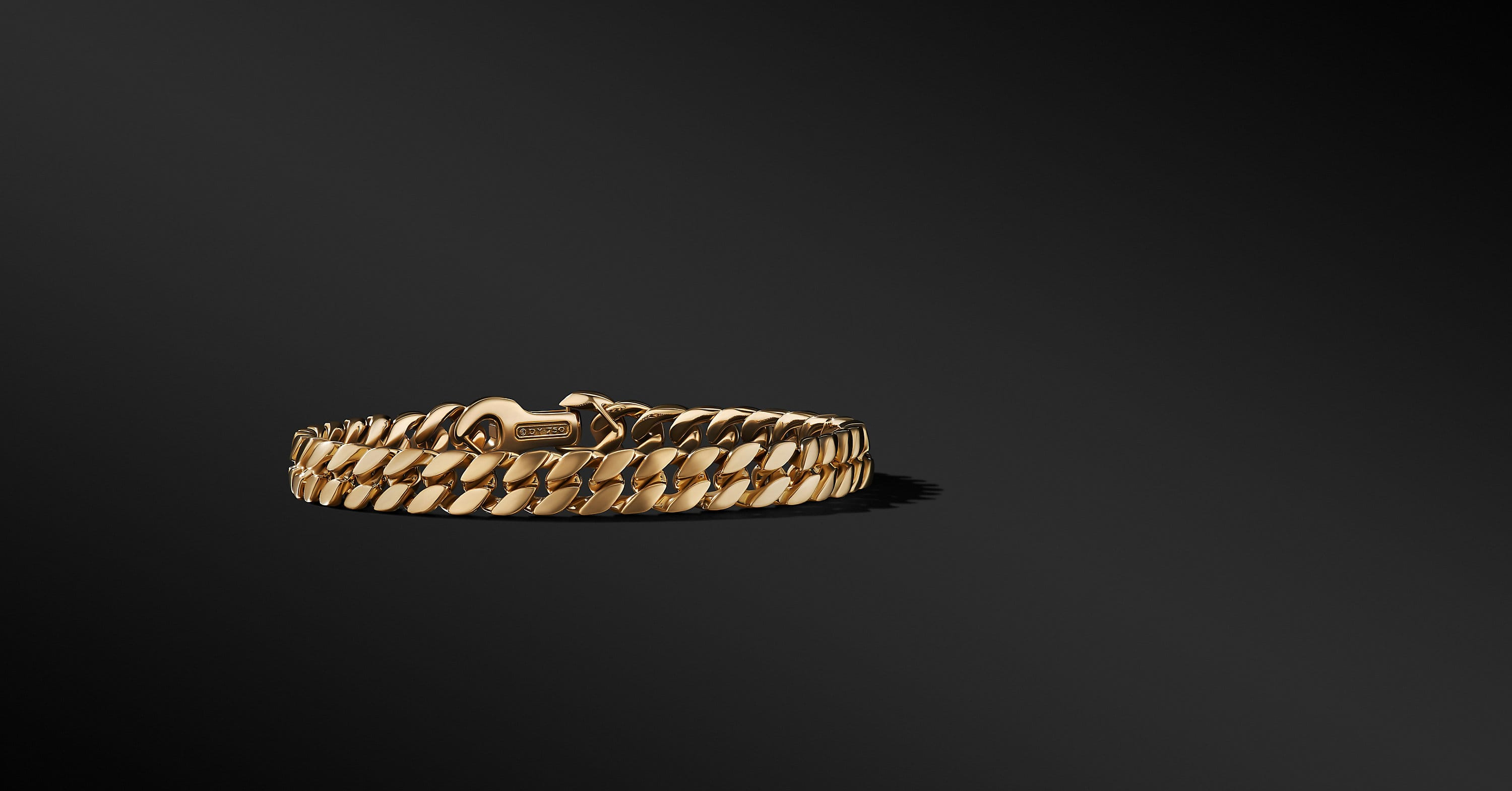 Curb Chain Bracelet in 18K Yellow Gold, 8mm