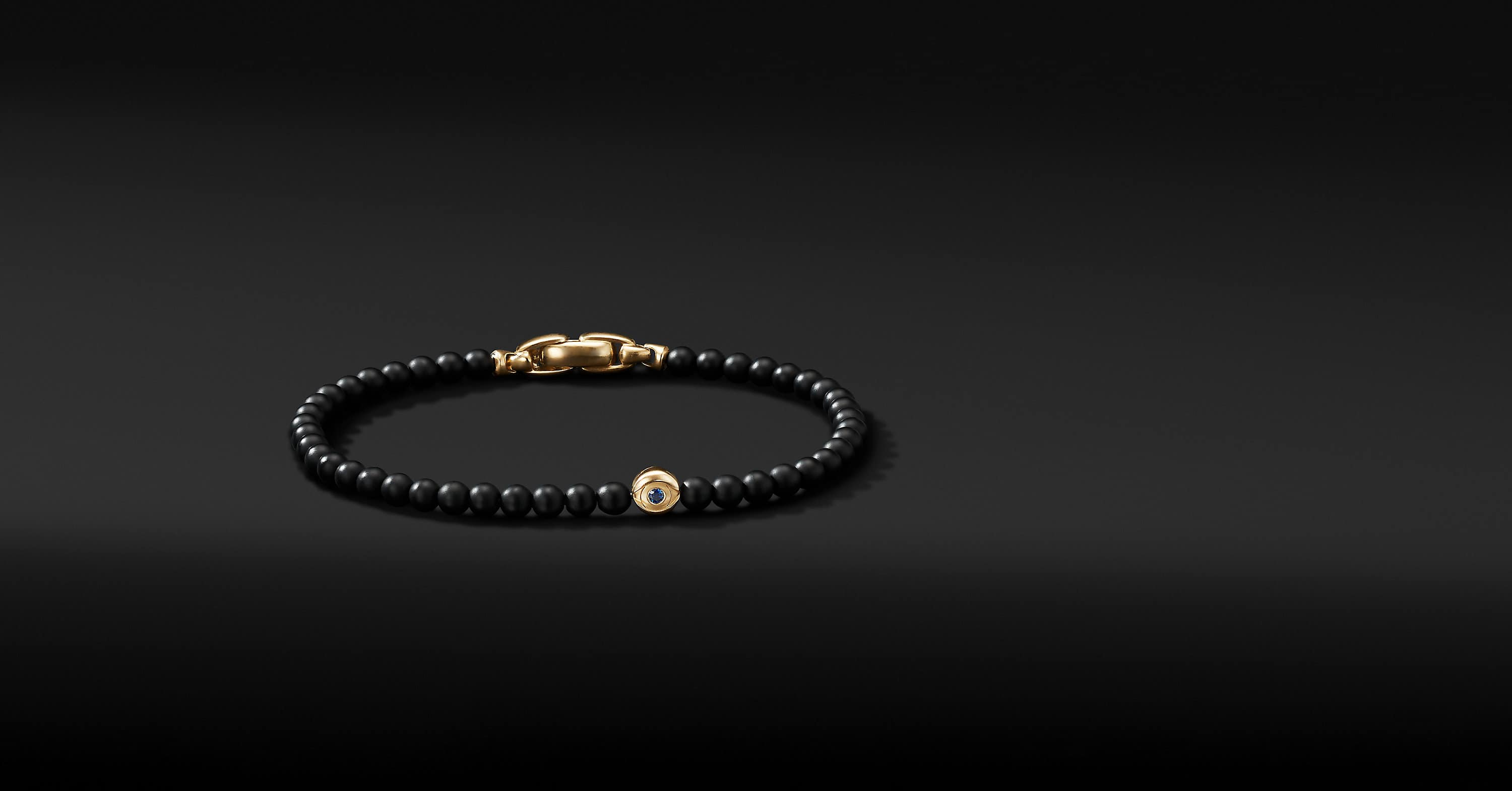 Spiritual Beads Evil Eye Bracelet with 18K Yellow Gold