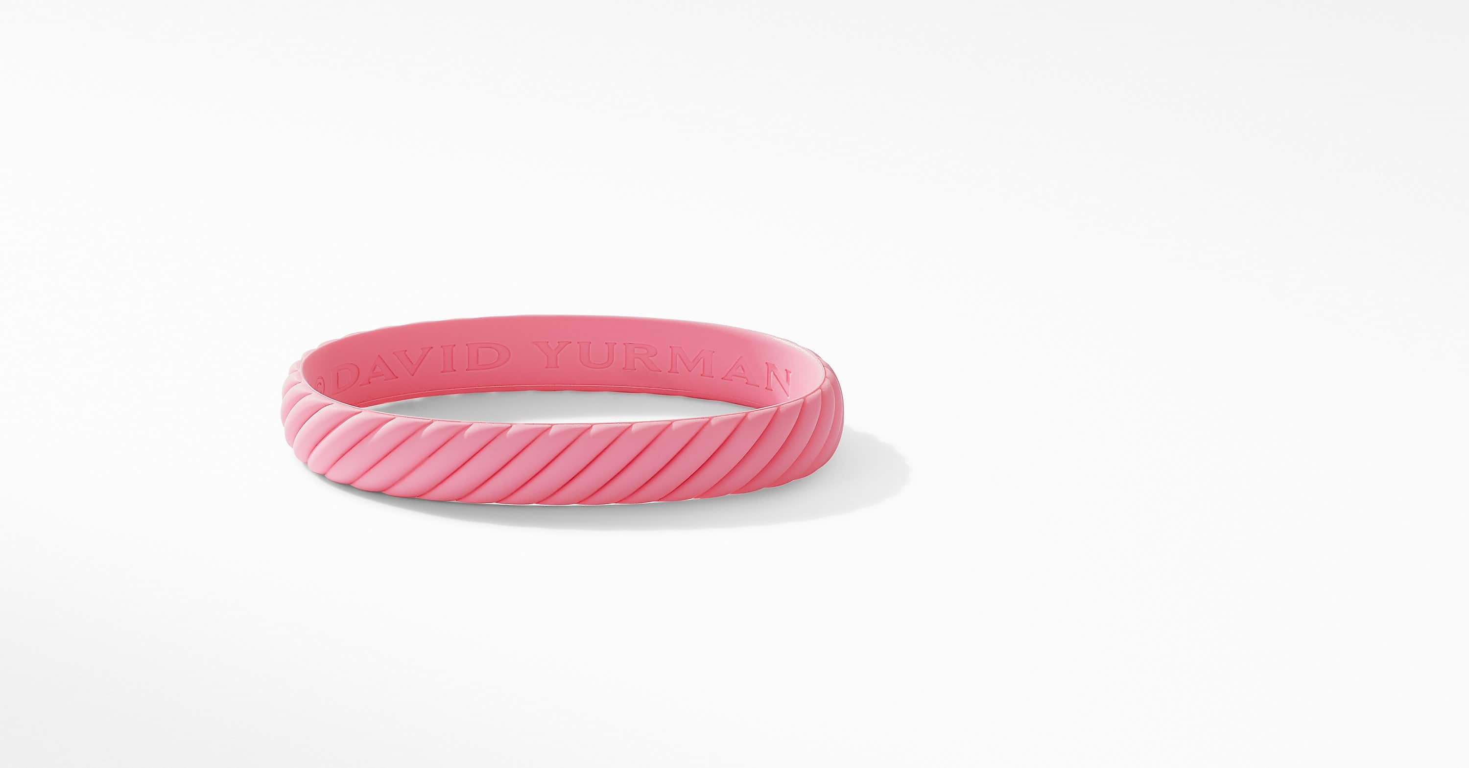 Cable Pink Rubber Bracelet