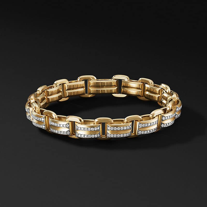 Beveled Link Bracelet in 18K Yellow Gold with
