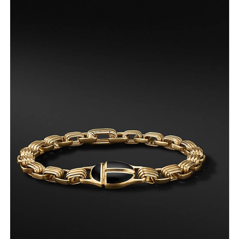 Cairo Chain Link Bracelet in 18K Yellow Gold, 7.5mm