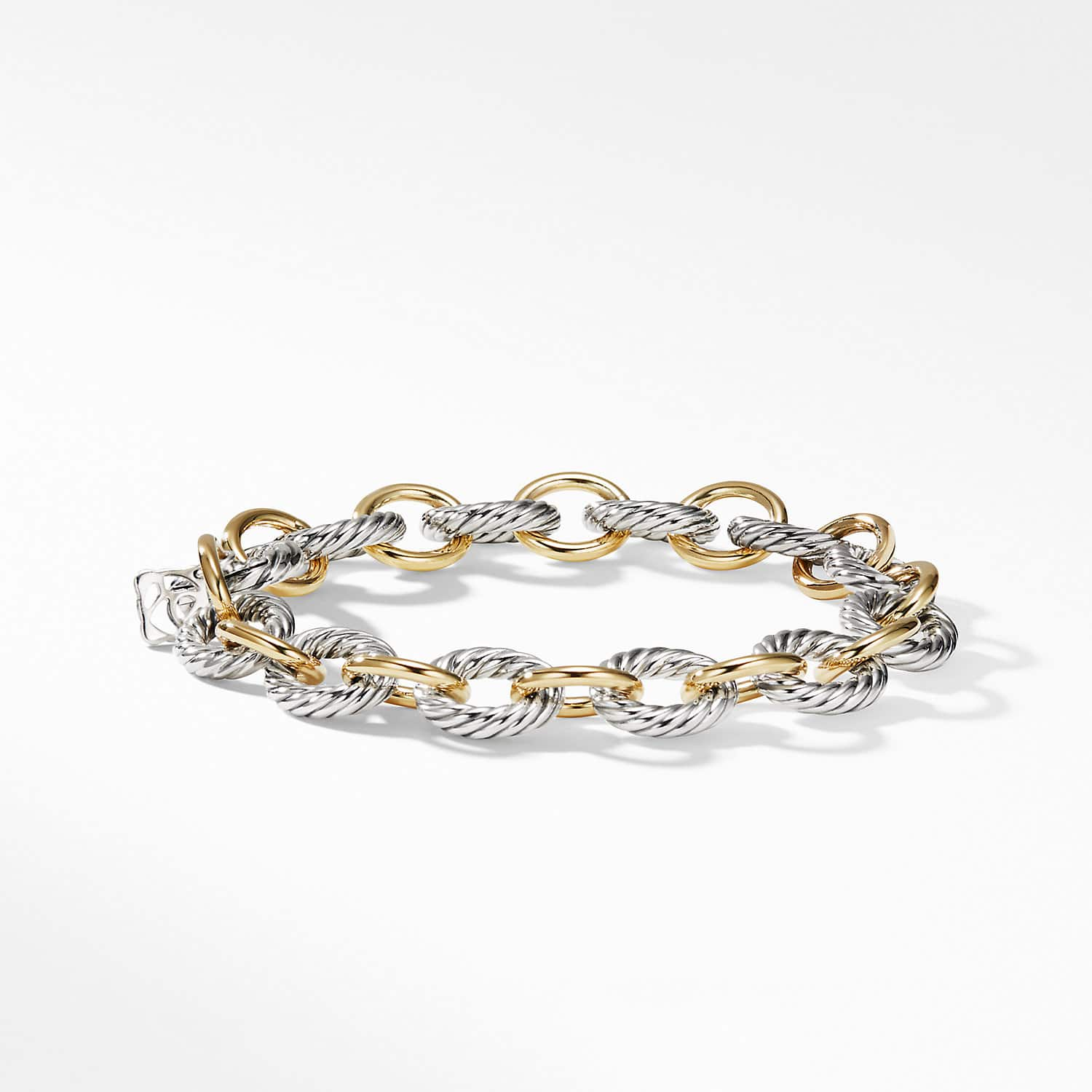 5d4cde168c3 Medium Oval Link Bracelet with 18K Gold Product Image
