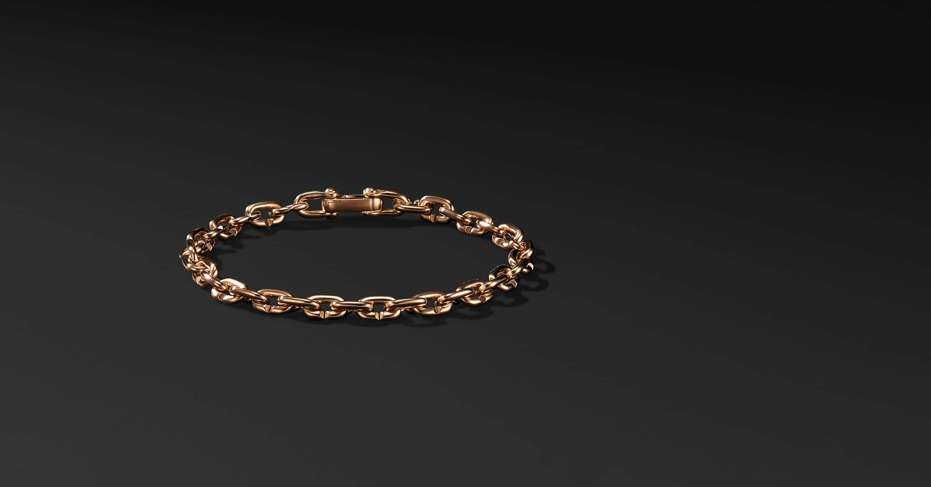 Chain Link Narrow Bracelet in 18K Rose Gold