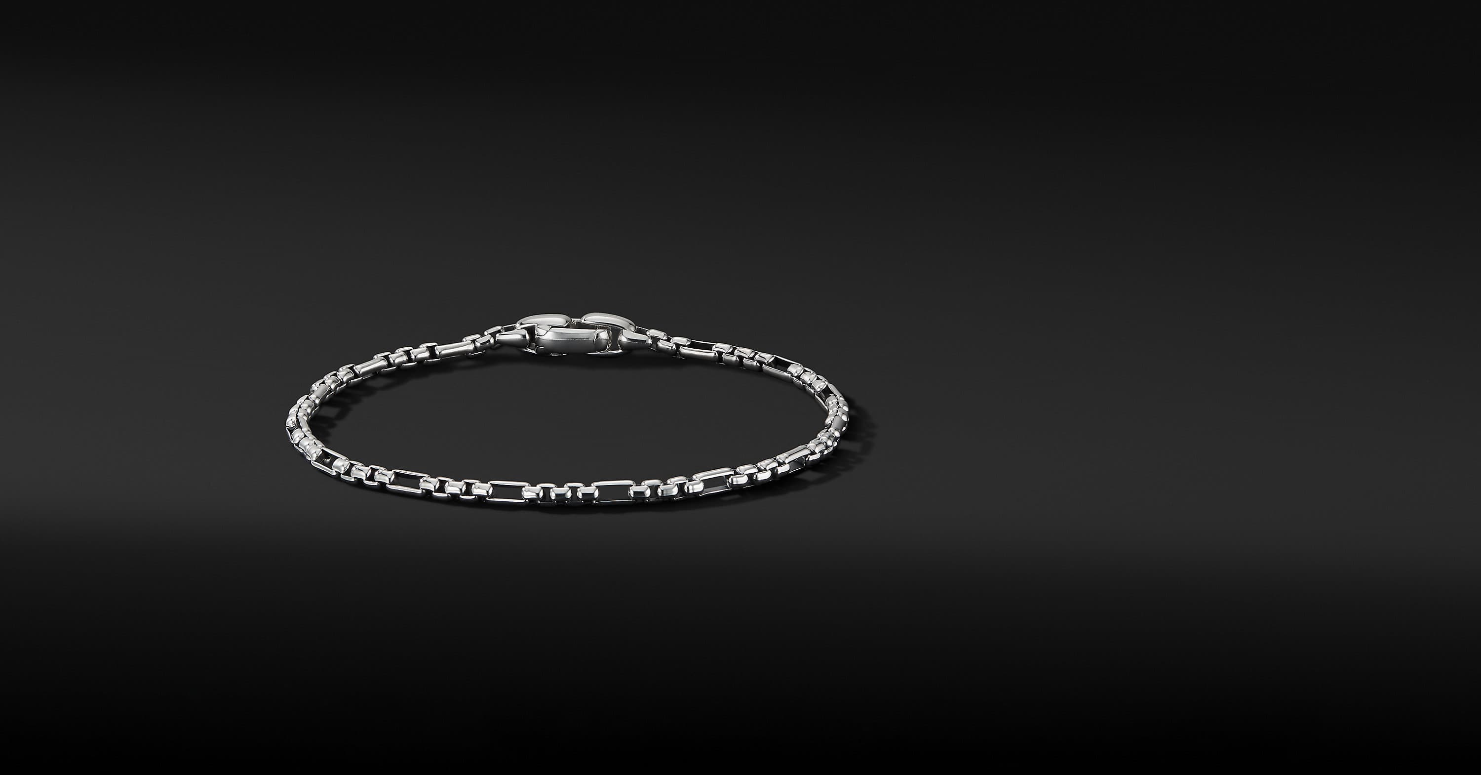 Open Station Box Chain Bracelet, 3mm