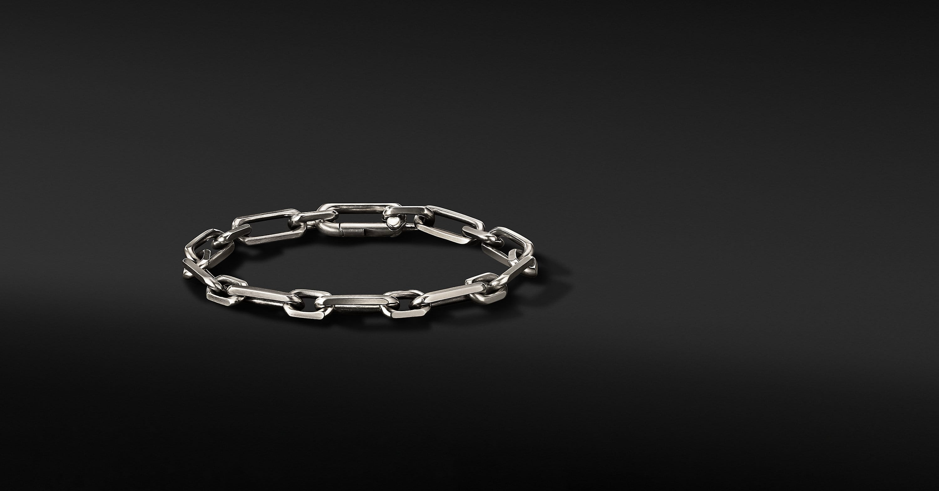 Elongated Open Link Chain Bracelet