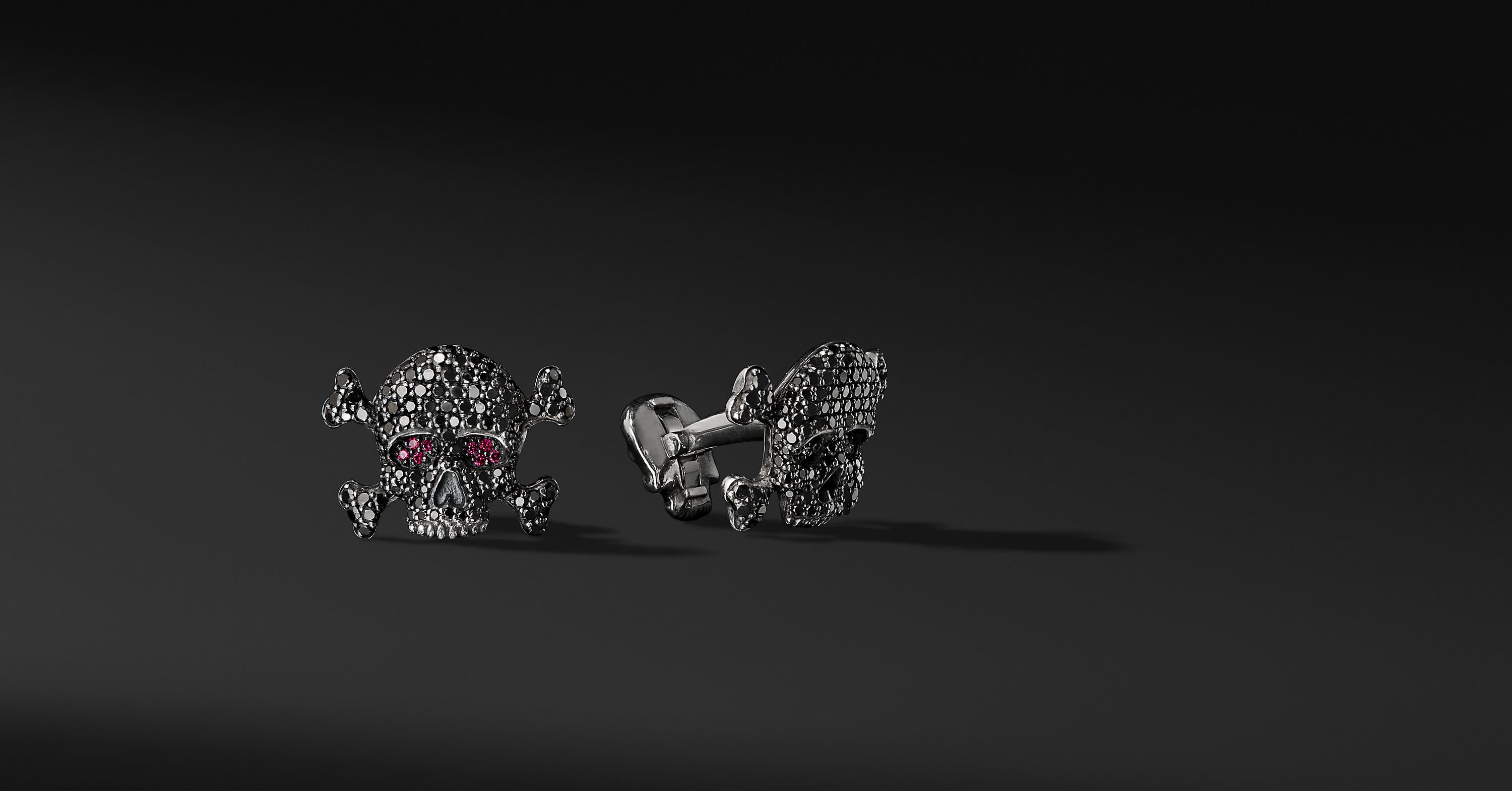 Waves Skull Cuff Links