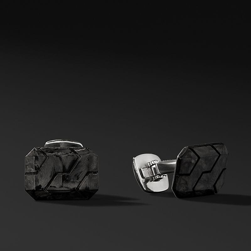 Forged Carbon Cufflinks, 18.5mm