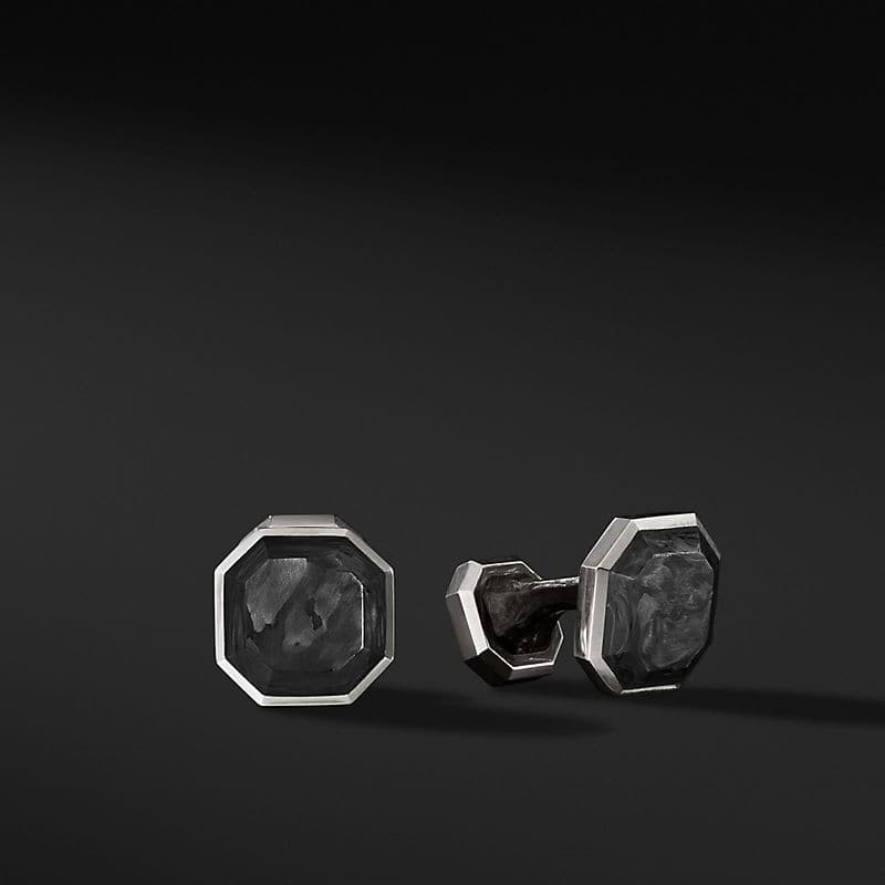 Forged Carbon Cufflinks, 15.5mm