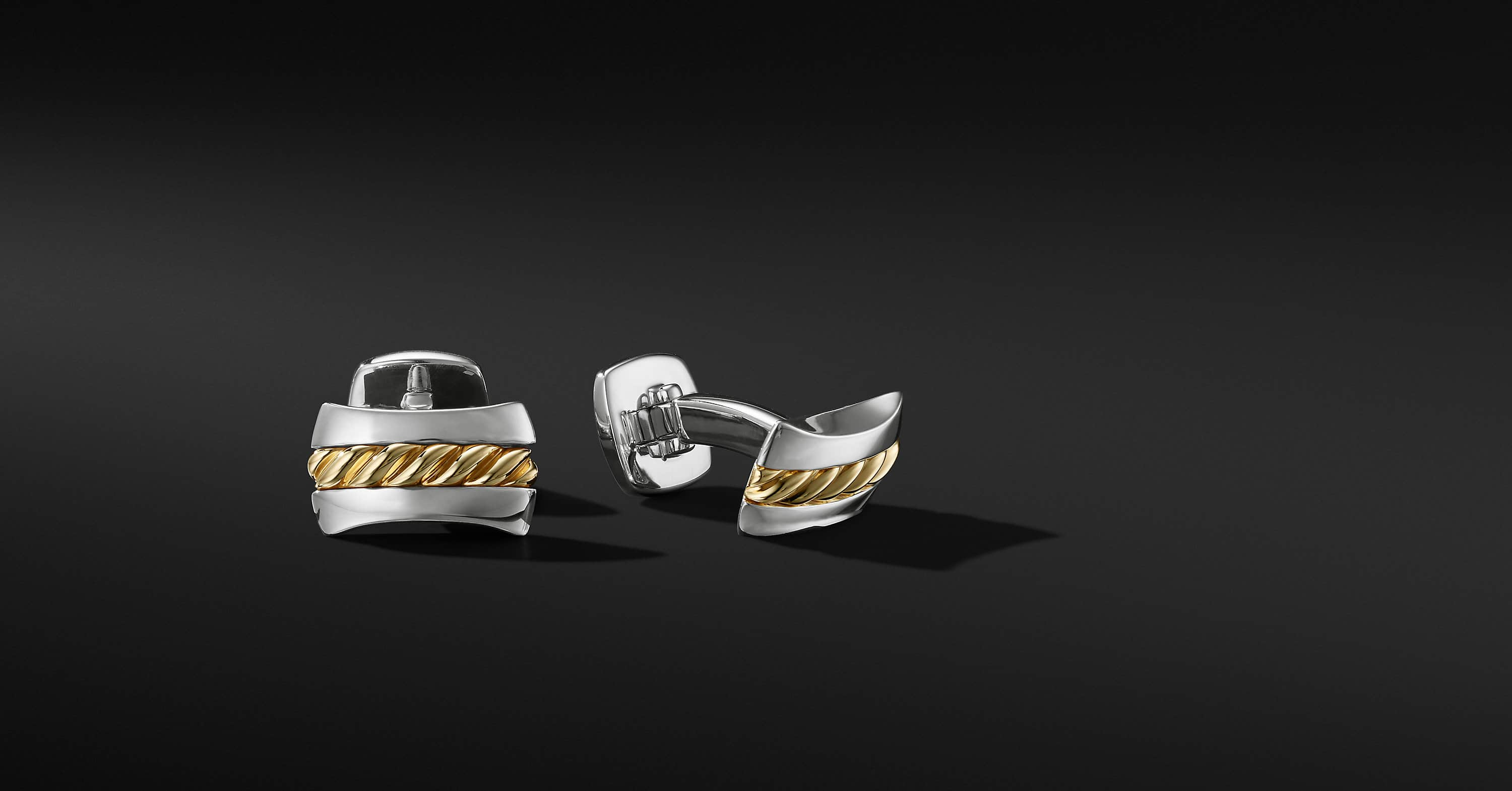 Cable Cufflinks with 18K Yellow Gold