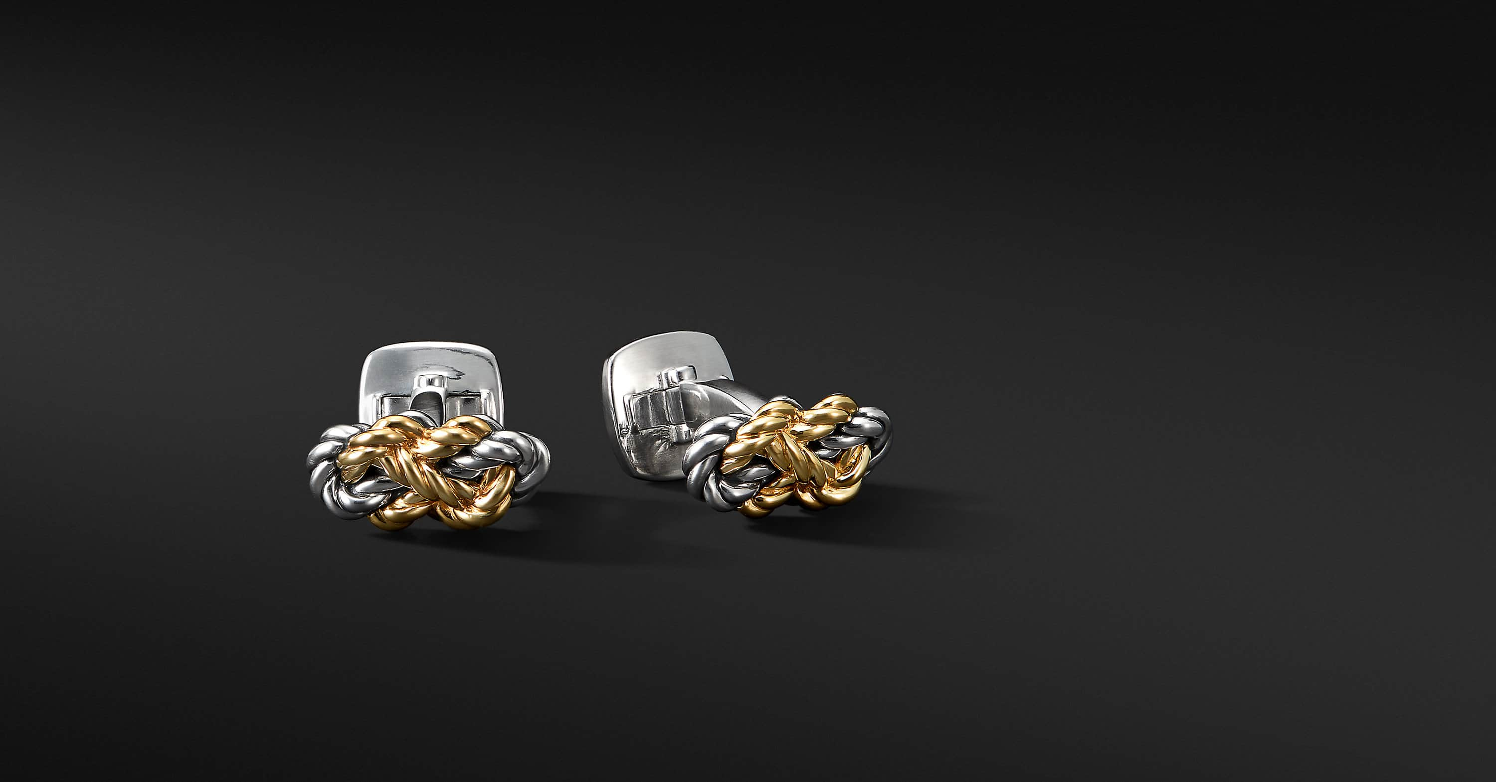 Maritime Knot Cufflinks with 18K Yellow Gold