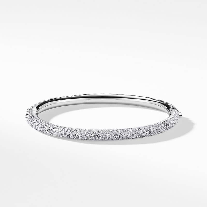 Limited Edition Pave Cable Bangle with Diamonds in