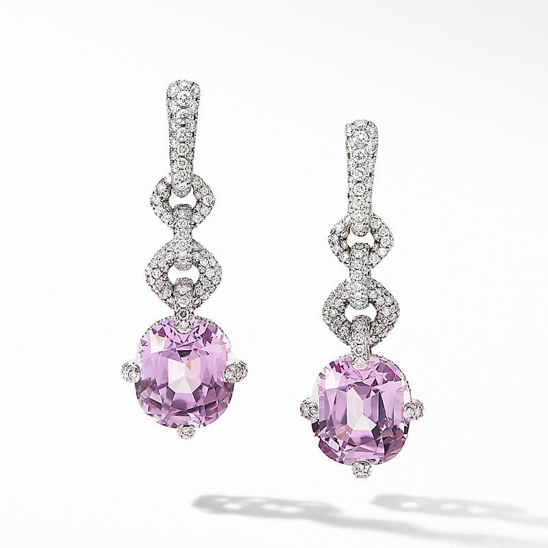 Gems Earrings in White Gold with Diamonds