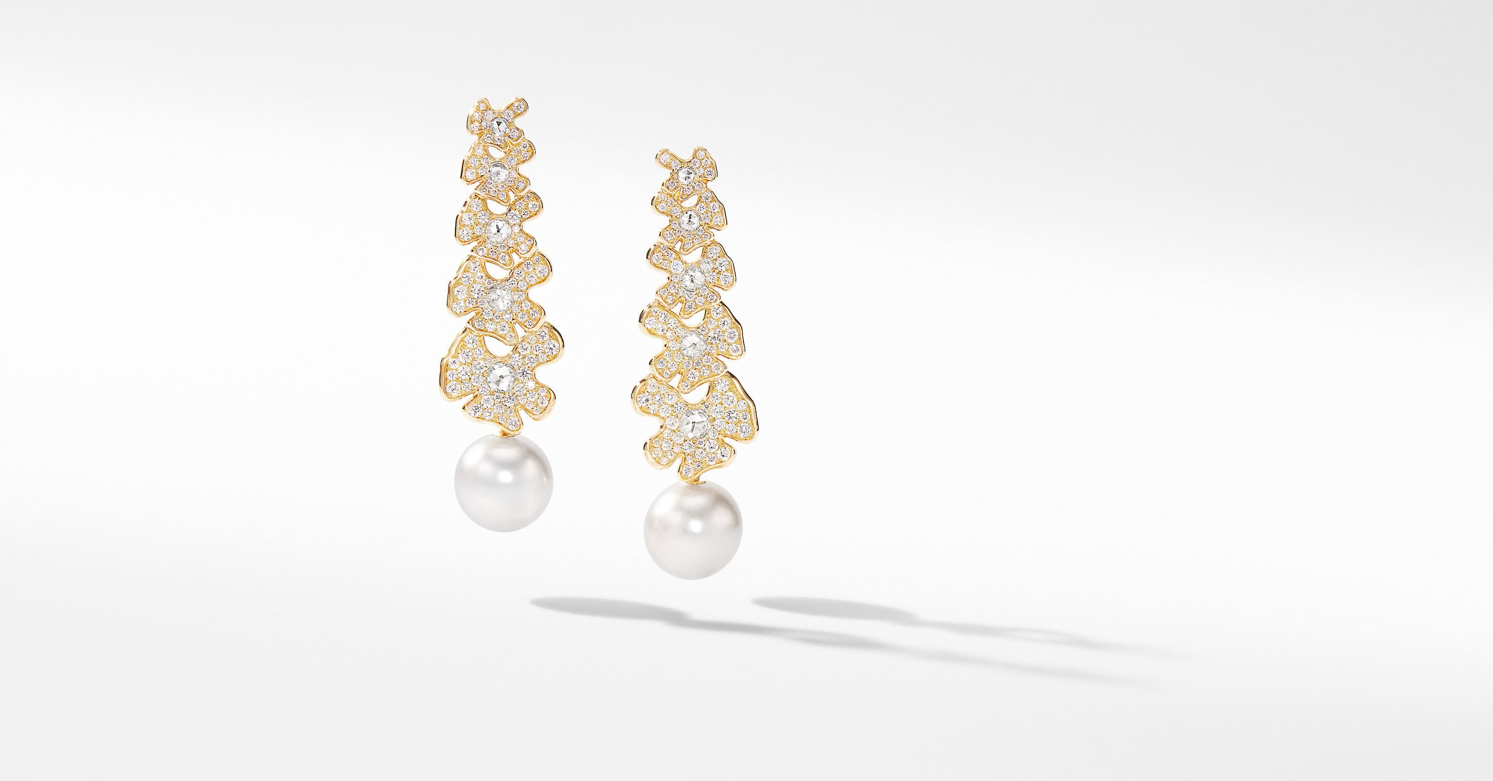 Day Petals Long Pearl Earrings