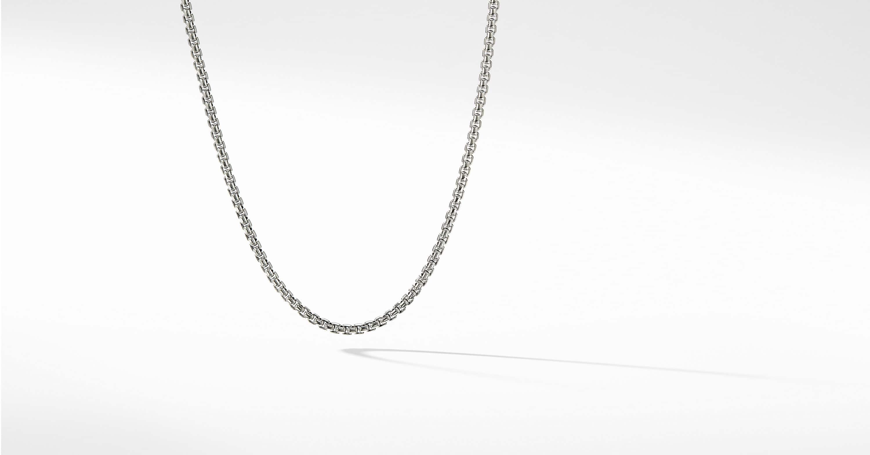 Medium Box Chain Necklace with an Accent of 14K Gold, 3.6mm