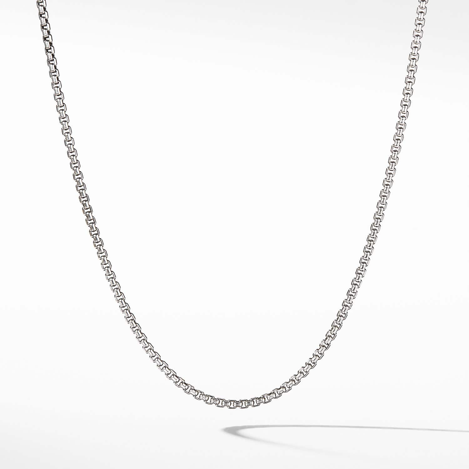 d3bde6fdff4 Small Box Chain Necklace with an Accent of 14K Gold
