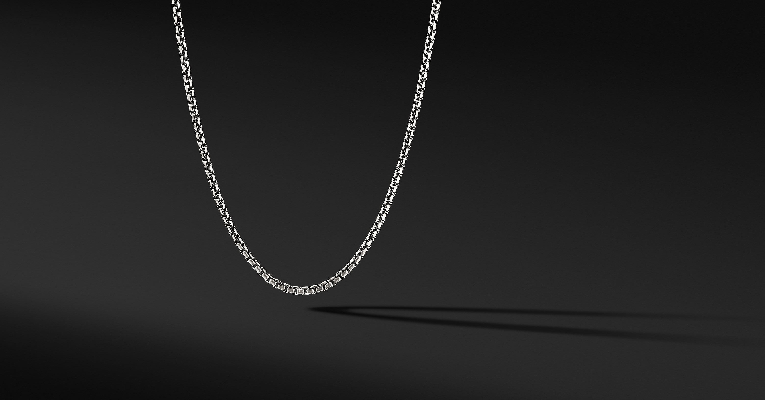 Small Box Chain in 18K White Gold, 2.7mm