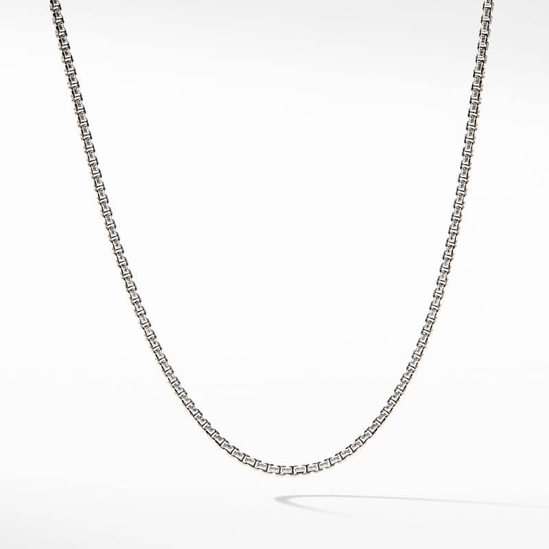 Baby Box Chain Necklace with An Accent of