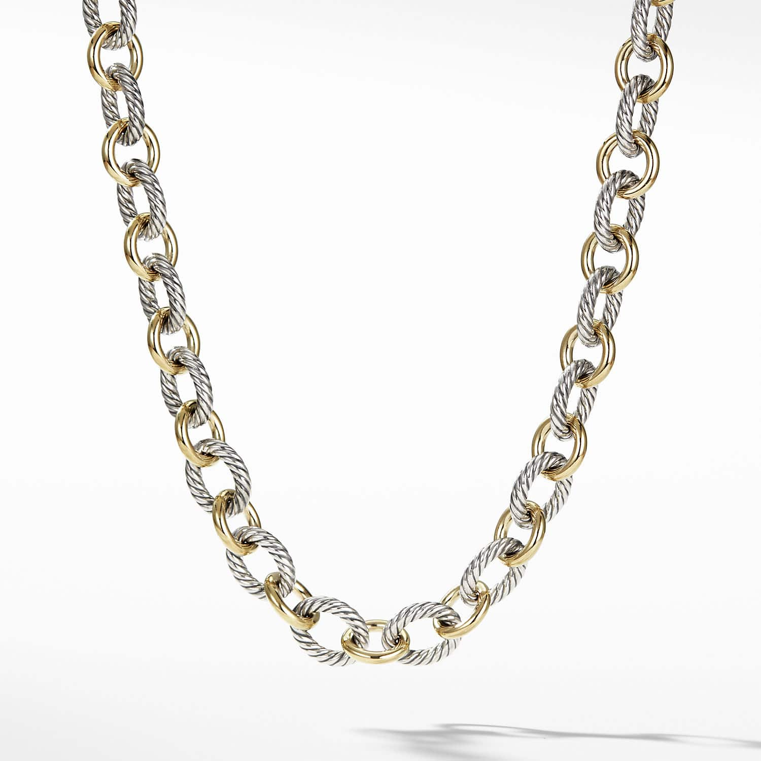 4cc8f9c099dc2 Large Oval Link Necklace with 18K Gold | David Yurman
