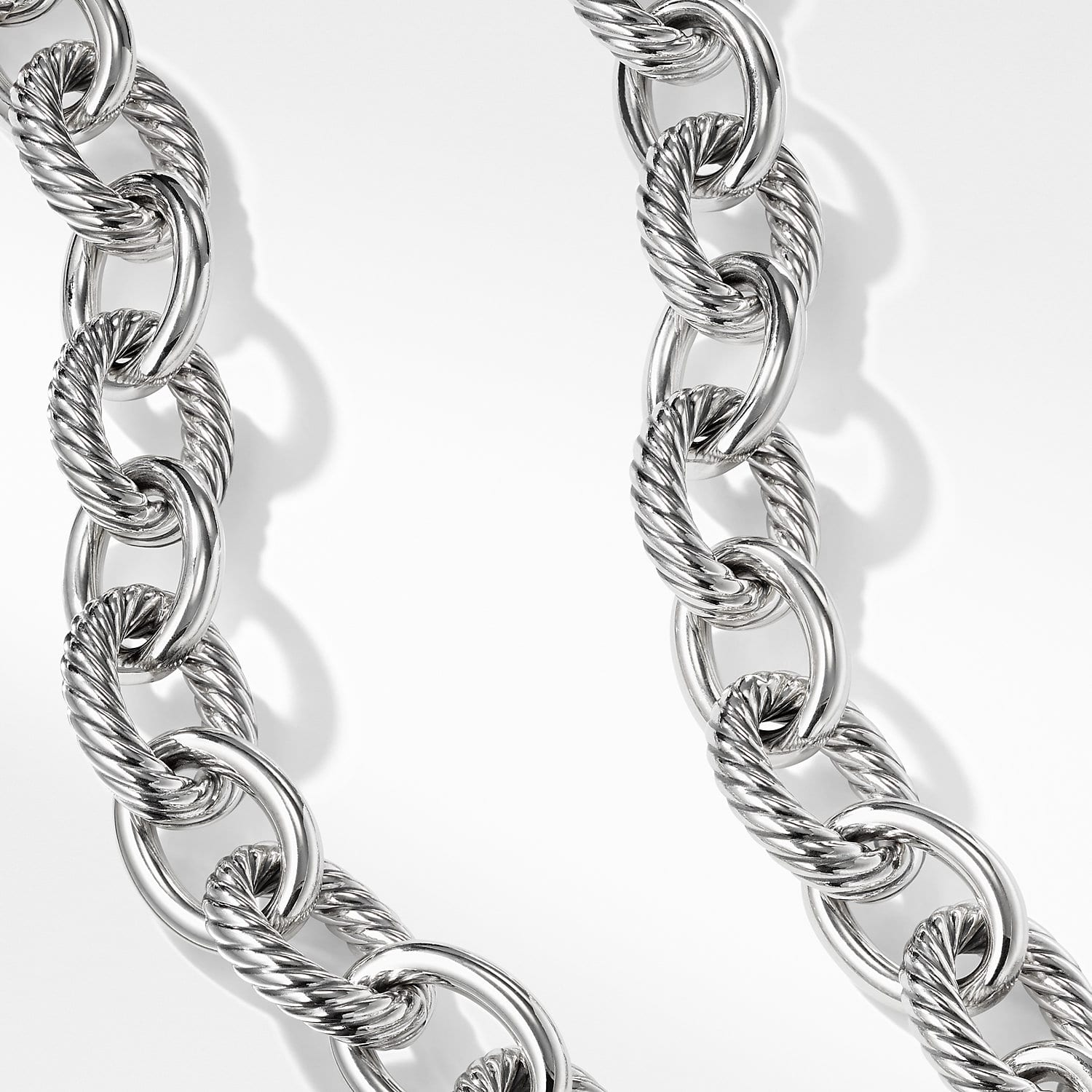 Chain-1M-Rhodium Plated-3*4mm Ellipse link chain-Layerd necklace Jewelry findings,Necklace making supplies,Long lasting A528-260sf B