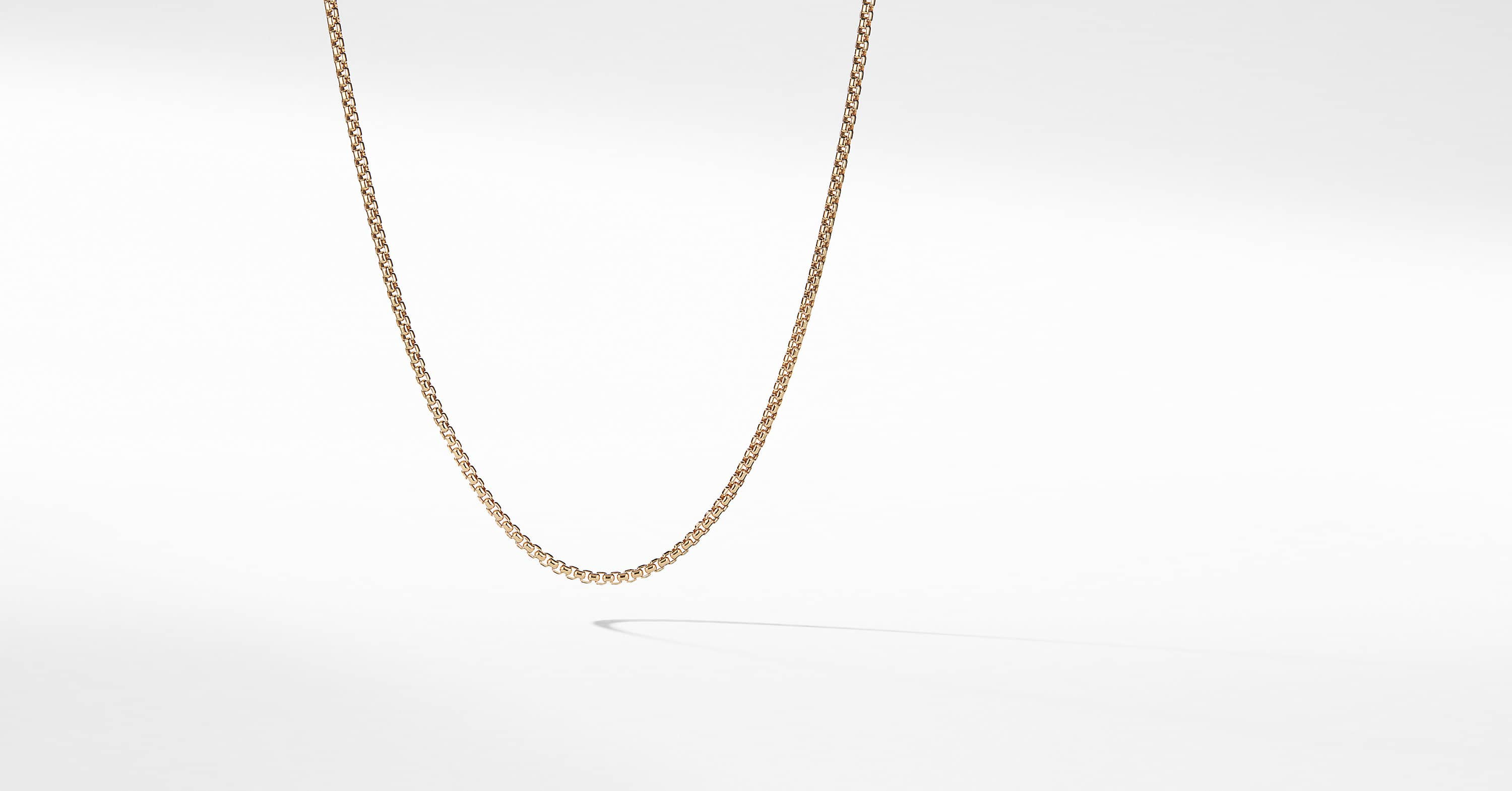 656c58bcdf562 Small Box Chain Necklace in 18K Gold