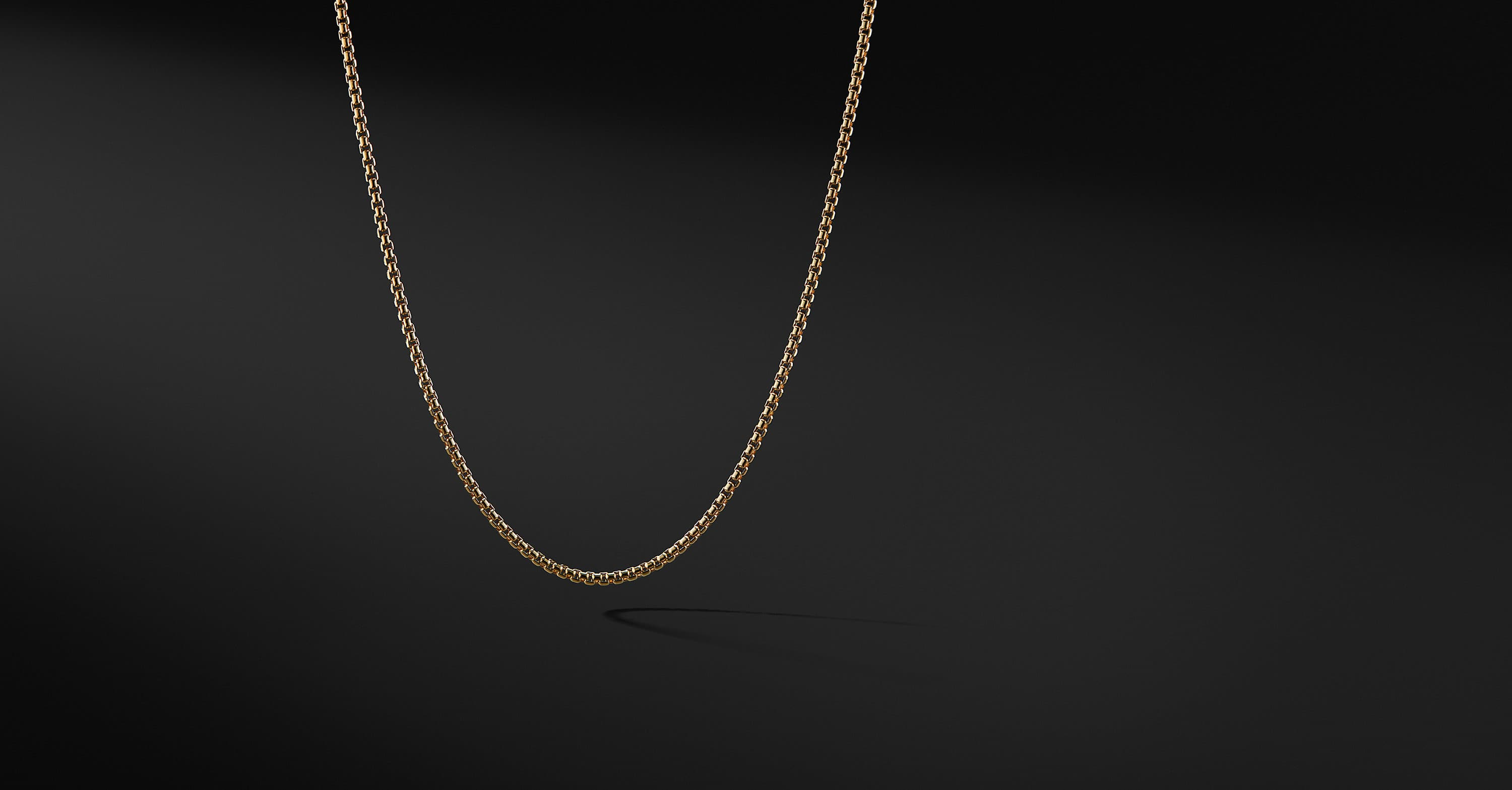 Small Box Chain in 18K Yellow Gold, 2.7mm
