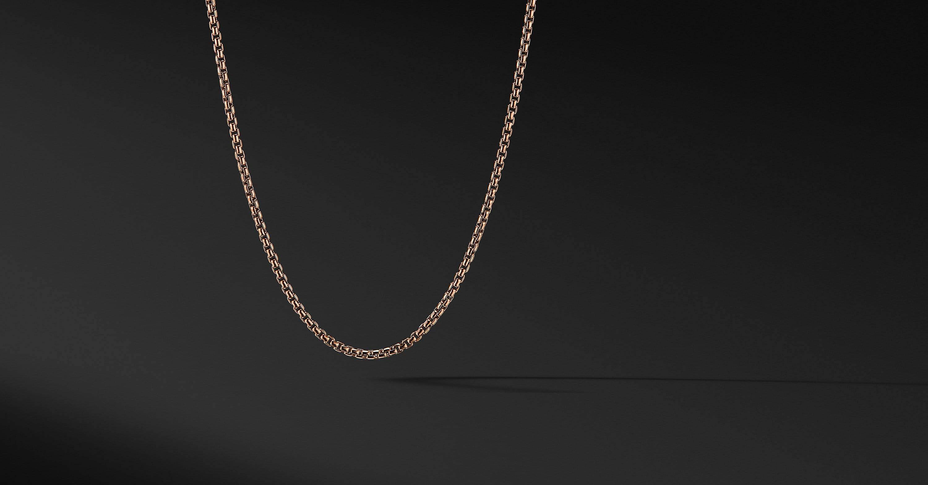 Small Box Chain in 18K Rose Gold ,2.7mm
