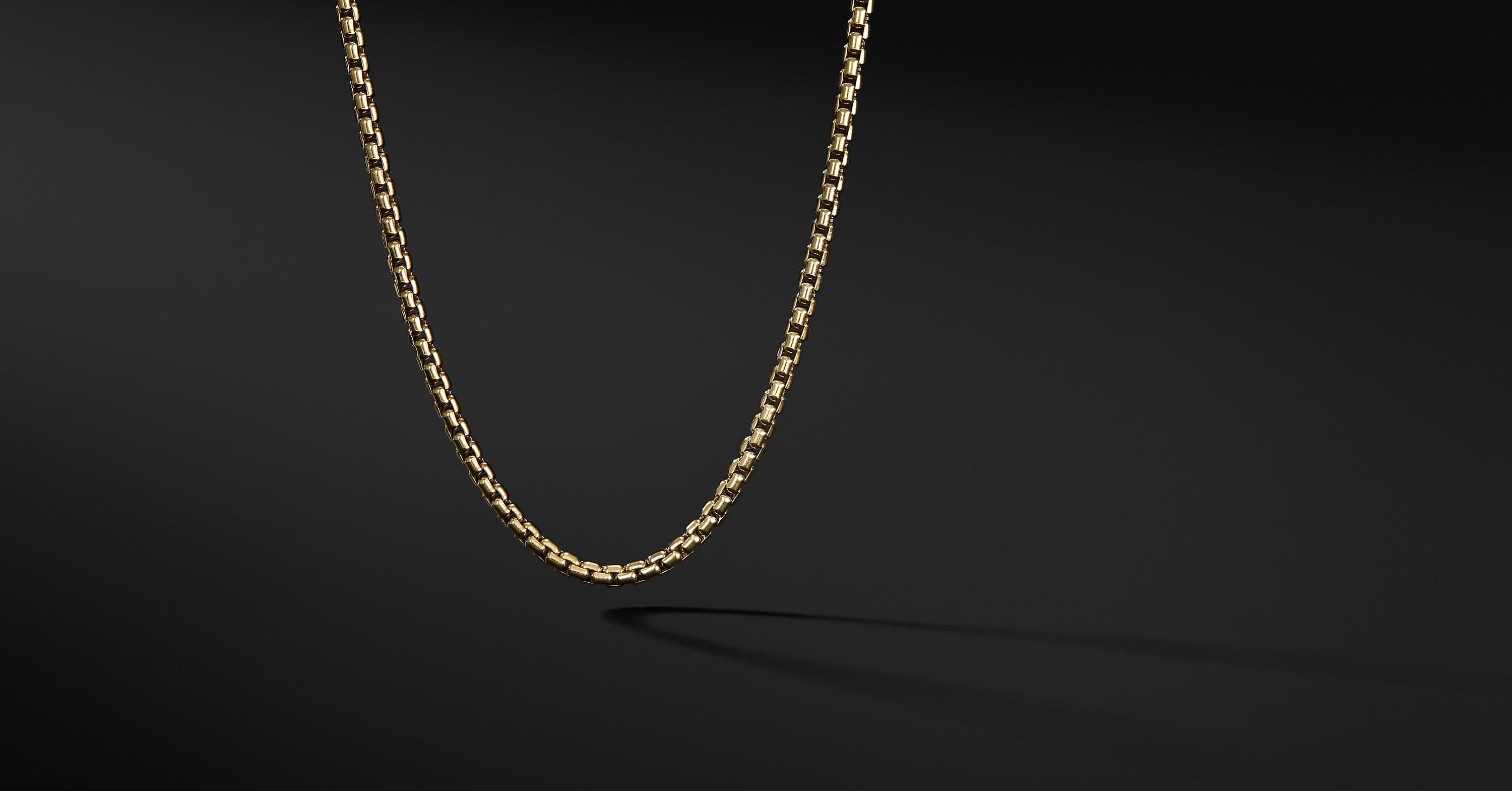 Medium Box Chain Necklace in 18K Gold, 3.4mm