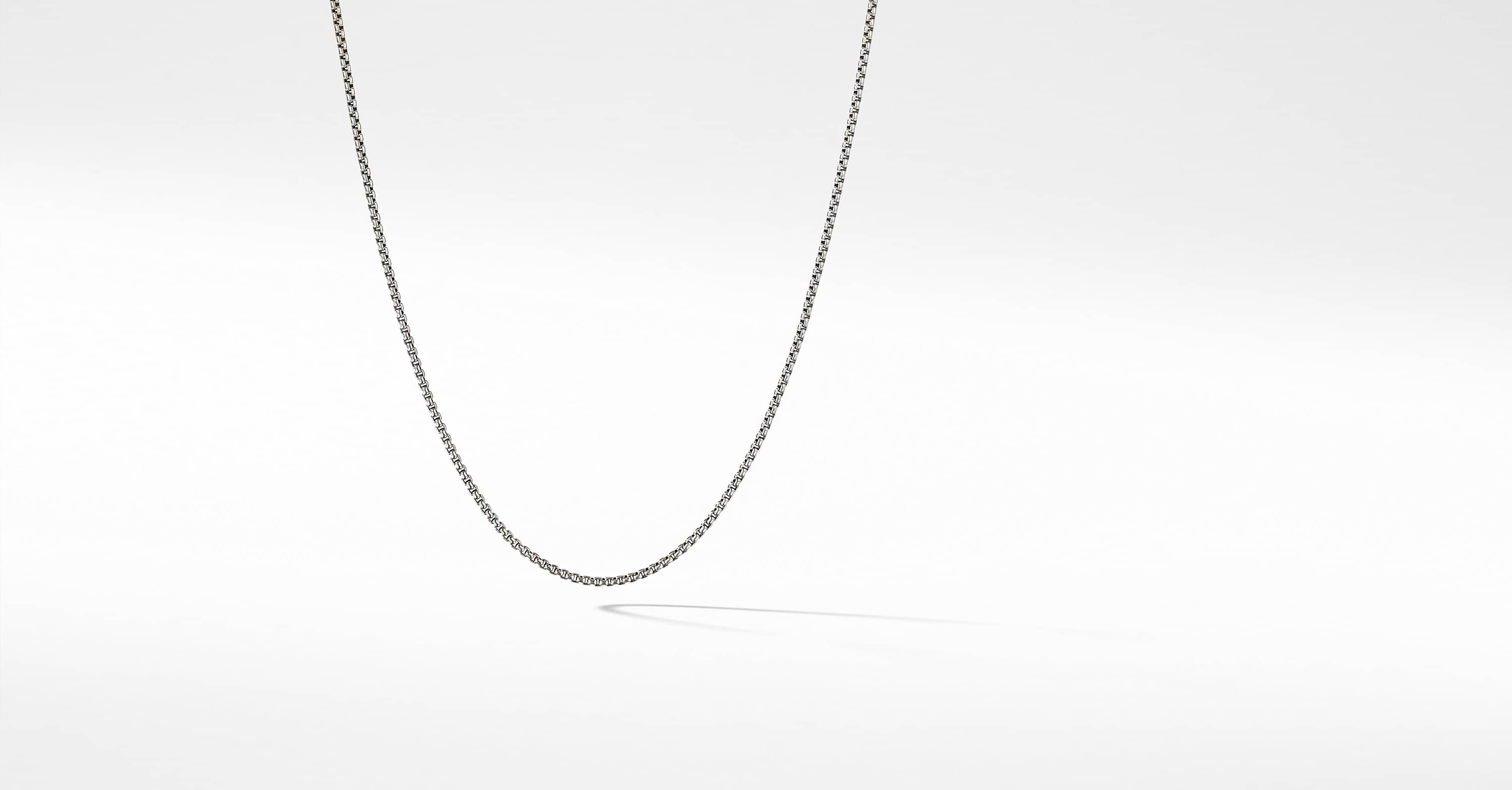 Box Chain Necklace with an Accent of 14K Gold, 1.7mm