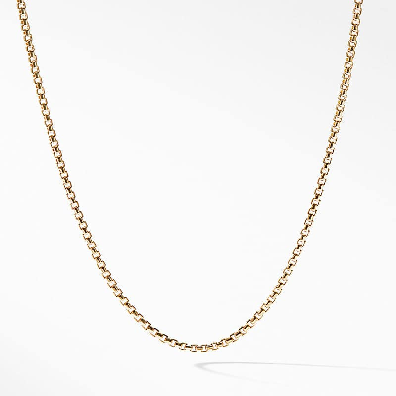 Box Chain Necklace in 18K Yellow Gold, 1.7mm
