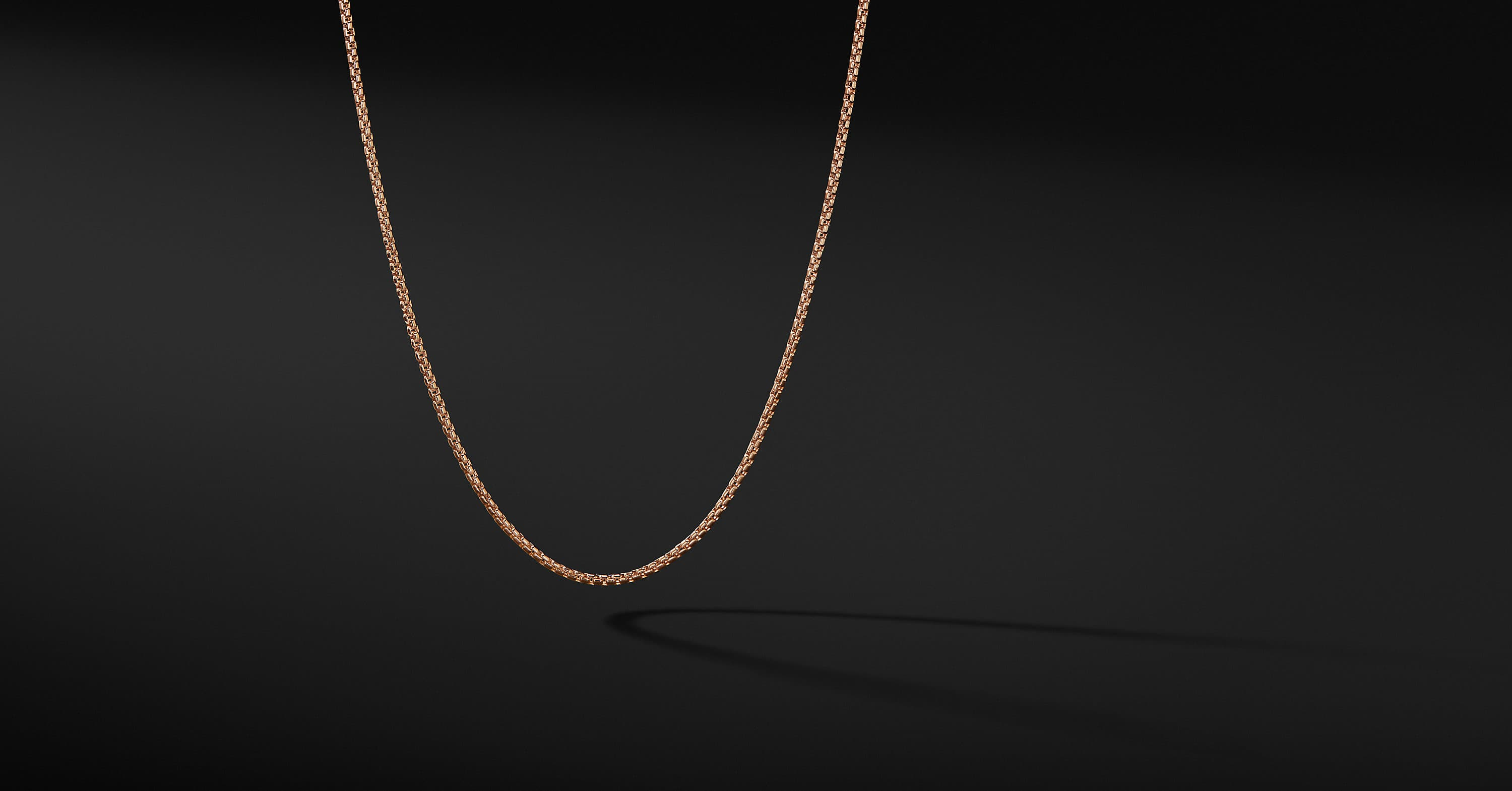 Box Chain in 18K Rose Gold, 1.7mm