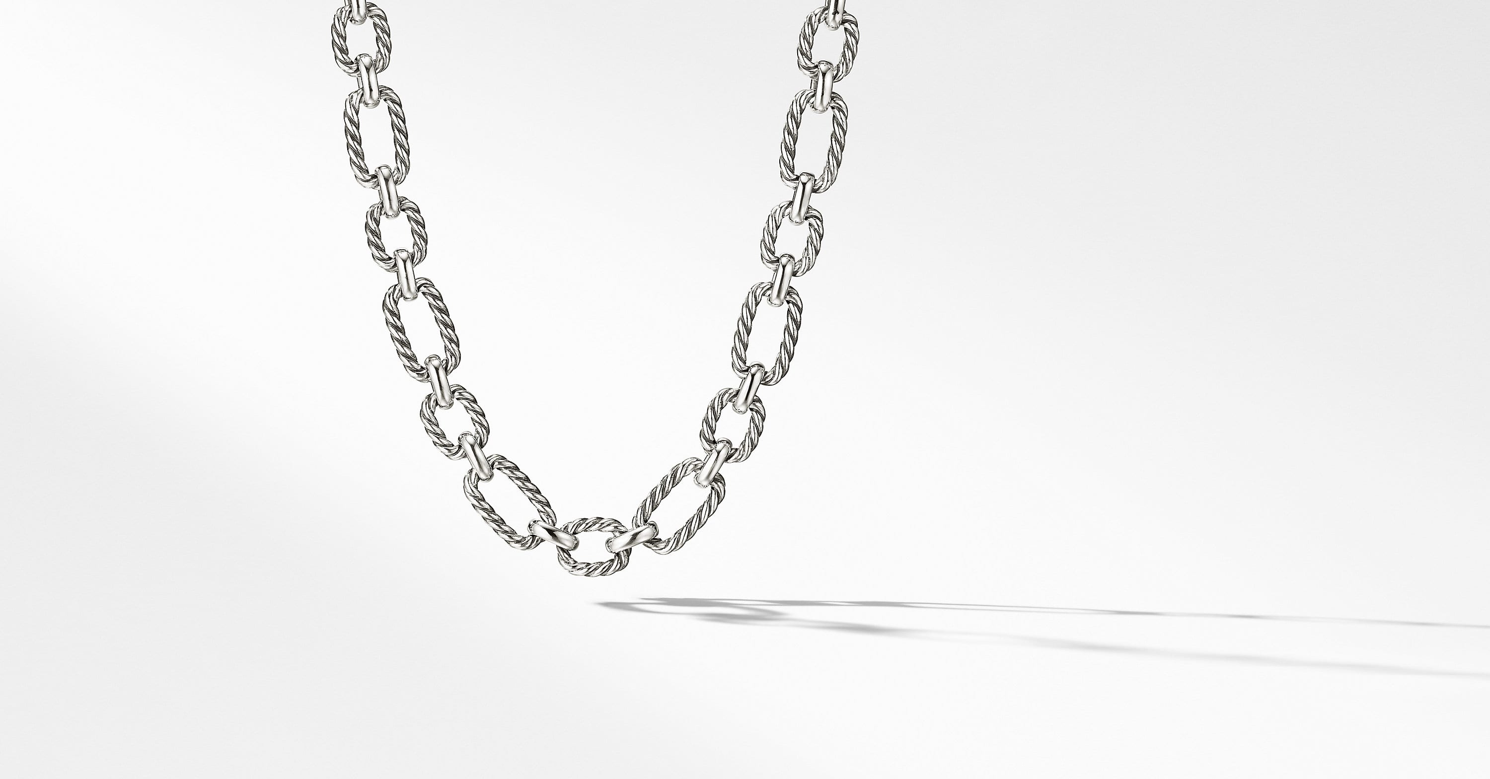 Cushion Link Necklace, 9.5mm