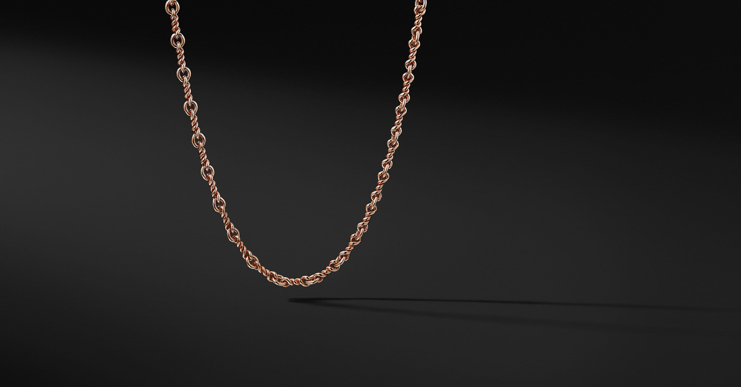 Continuance Cable Twist Chain Necklace in 18K Rose Gold