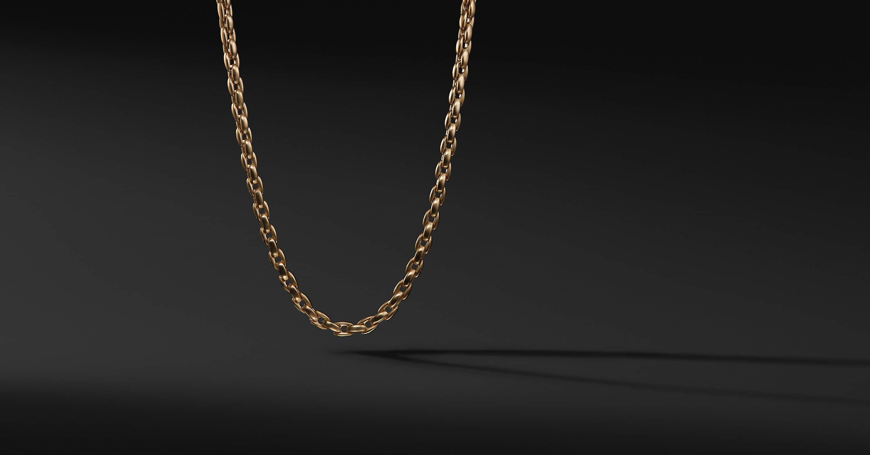 Elongated Box Chain in 18K Gold
