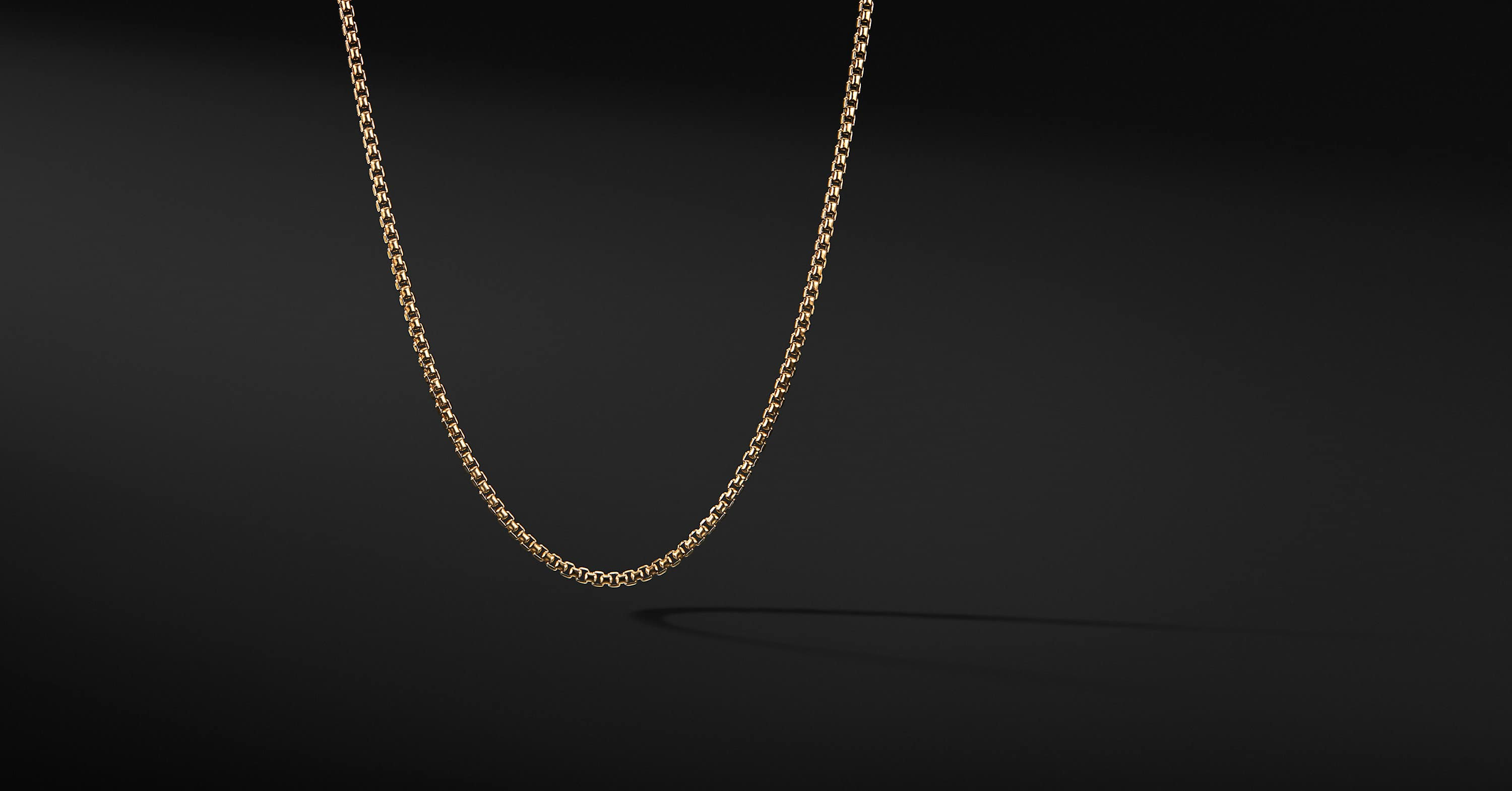 Box Chain Necklace in 18K Yellow Gold, 2.7mm