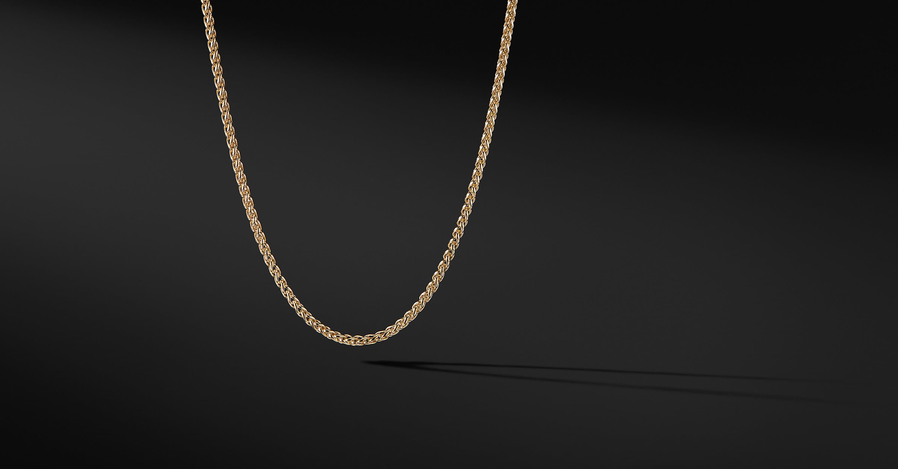 Wheat Chain in 18K Yellow Gold, 4mm