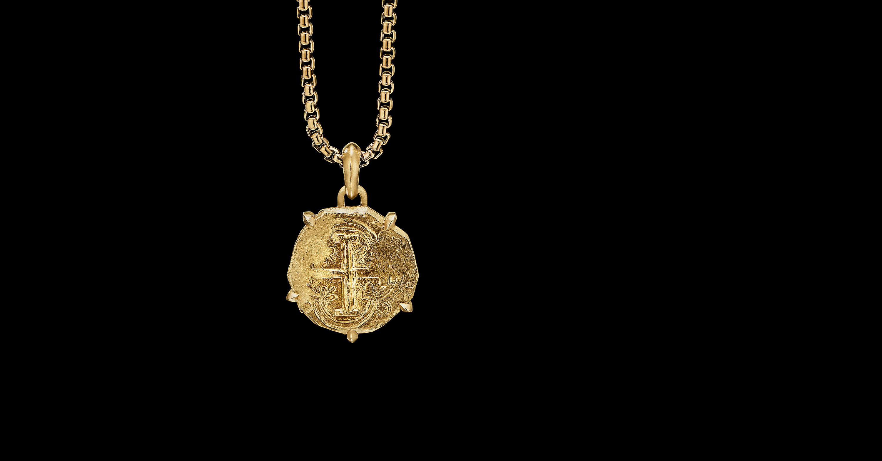 EY SignatureShipwreck Coin Amulet in 22K Yellow Gold
