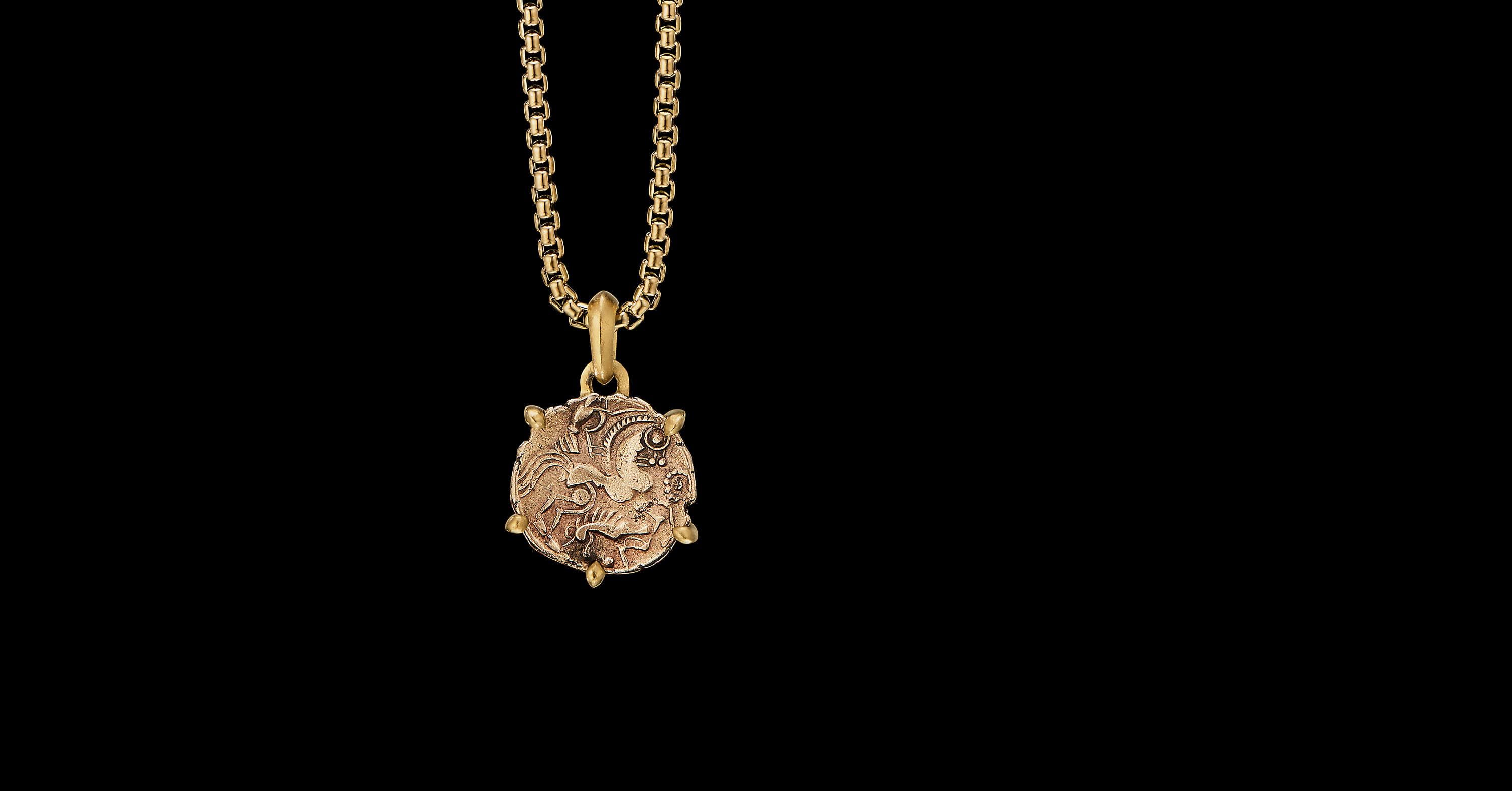 EY SignatureHorse Coin Amulet in 22K Yellow Gold