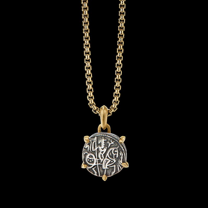EY® Signature Chariot CoinAmulet with22K Yellow Gold