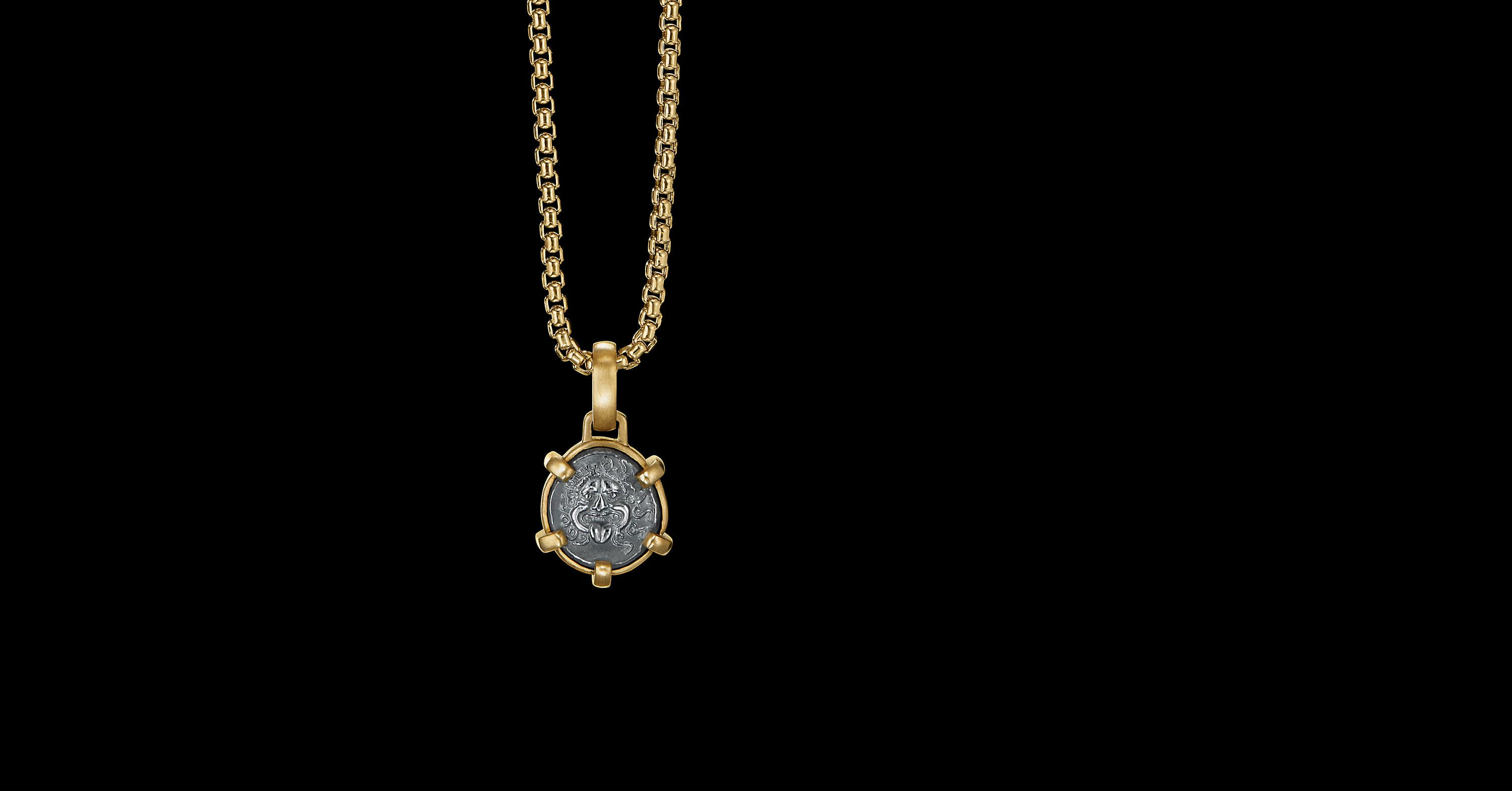 EY SignatureXS Face Coin Amuletwith22K Yellow Gold