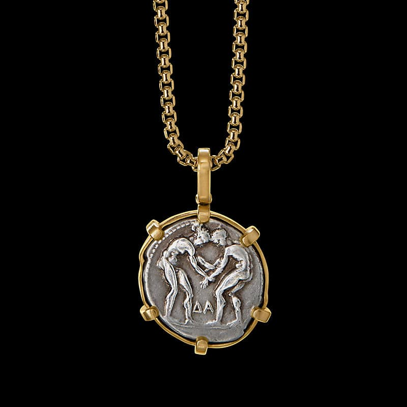 EY® SignatureTwin Coin Amuletwith 22K Yellow Gold