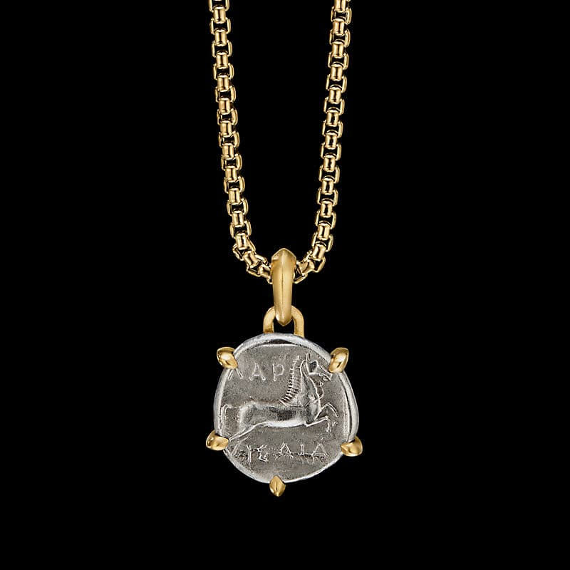 EY® SignatureHorse Coin Amuletwith 22K Yellow Gold