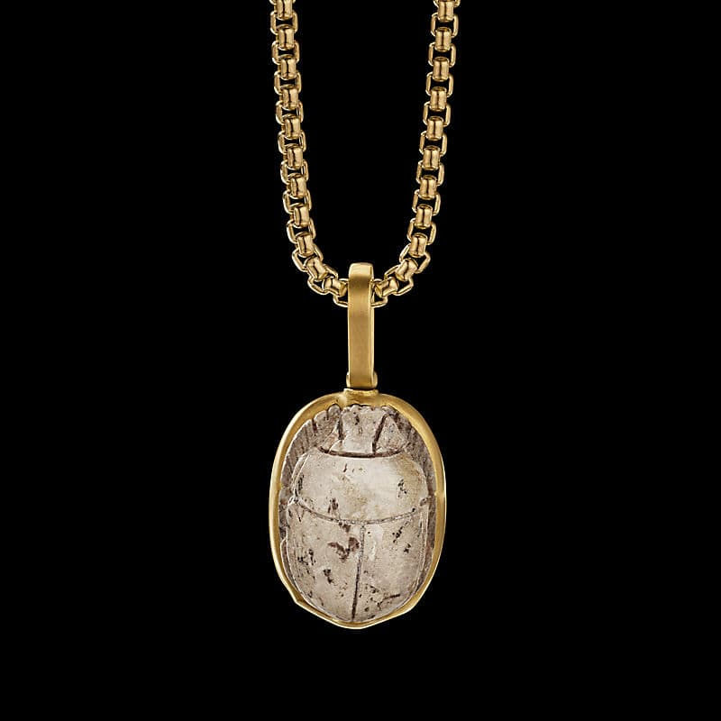 EY® Signature ScarabAmulet with 22K Yellow Gold