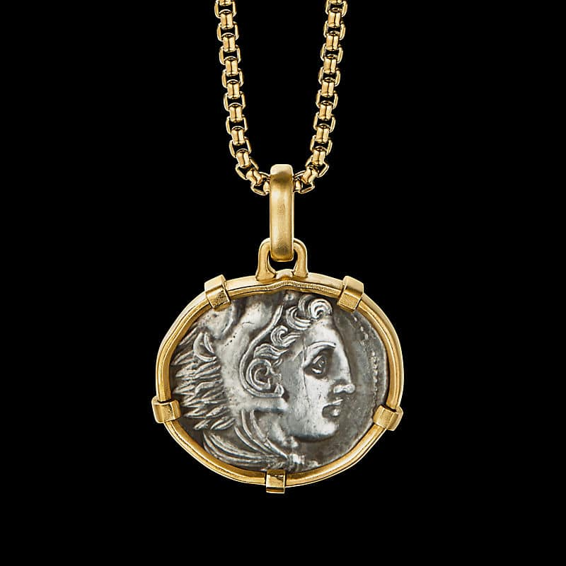 EY® SignatureGreek Coin Amuletwith 22K Yellow Gold