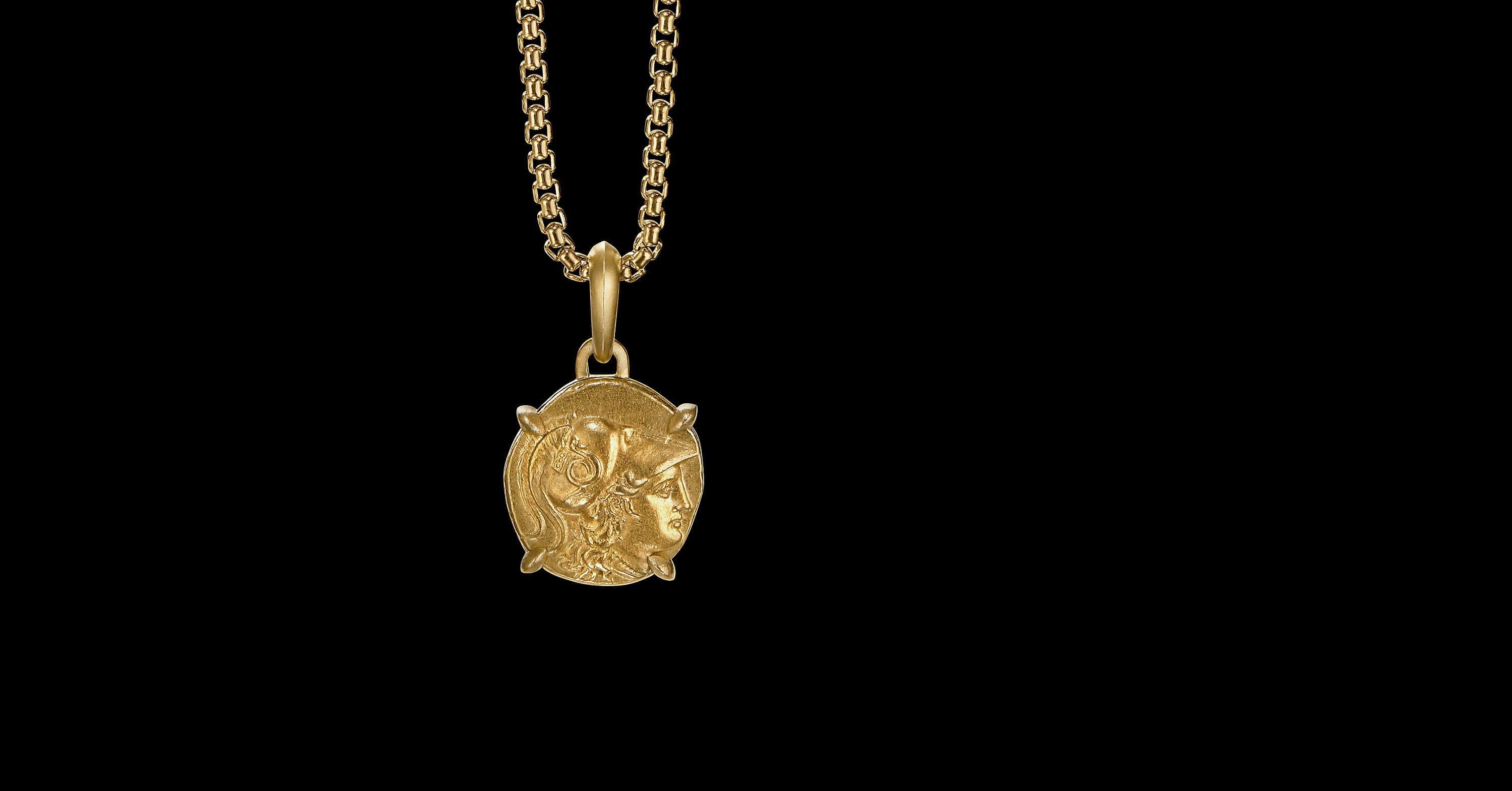 EY Signature Athena Coin Amulet in 22K Yellow Gold