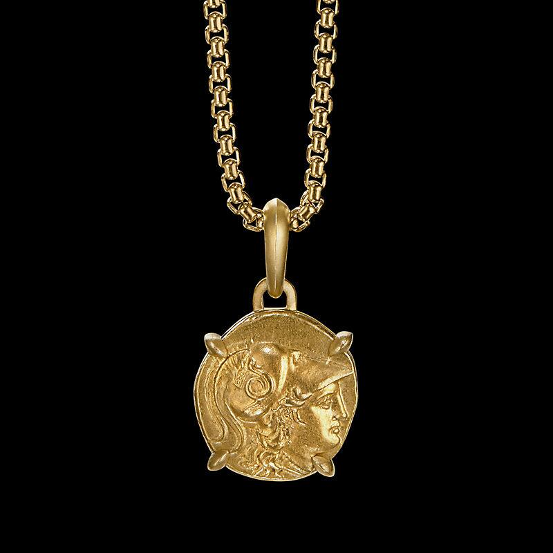 EY® Signature Athena Coin Amulet in 22K Yellow